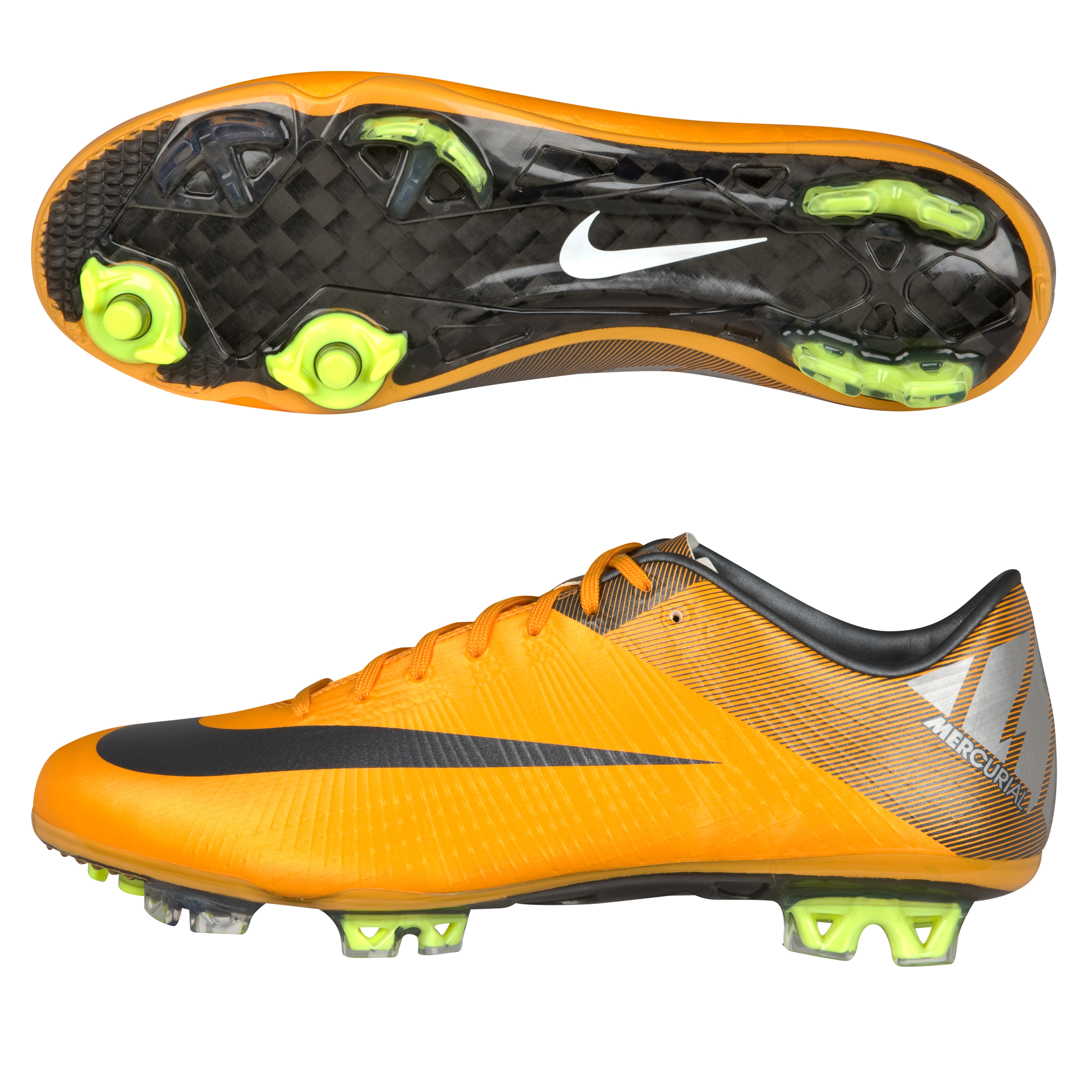 Nike Mercurial Superfly III Firm Ground Football Boots - Orange/Metallic/Silver