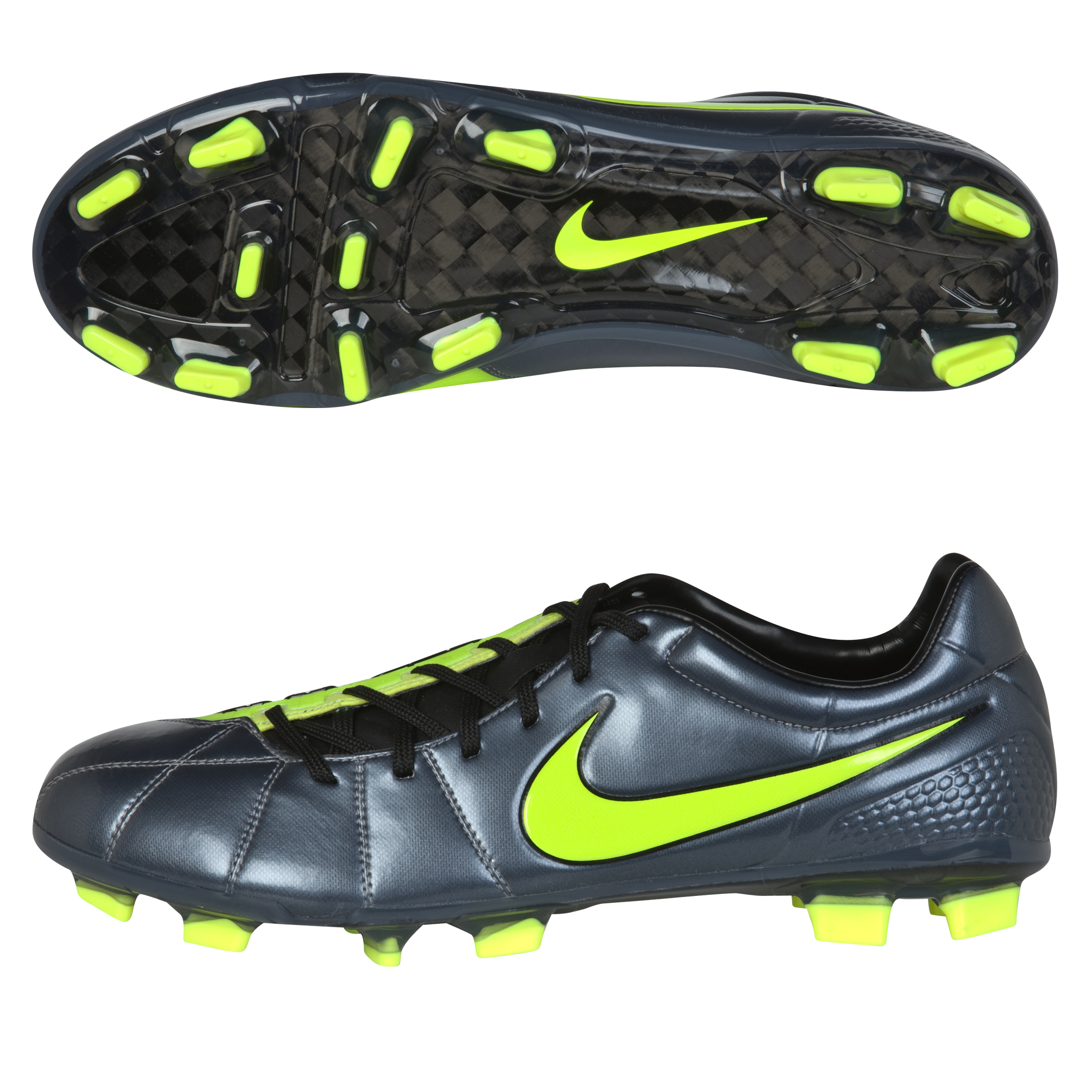 Nike T90 Laser III Elite Firm Ground Football Boots - Metallic Blue Dusk/ Volt/Black