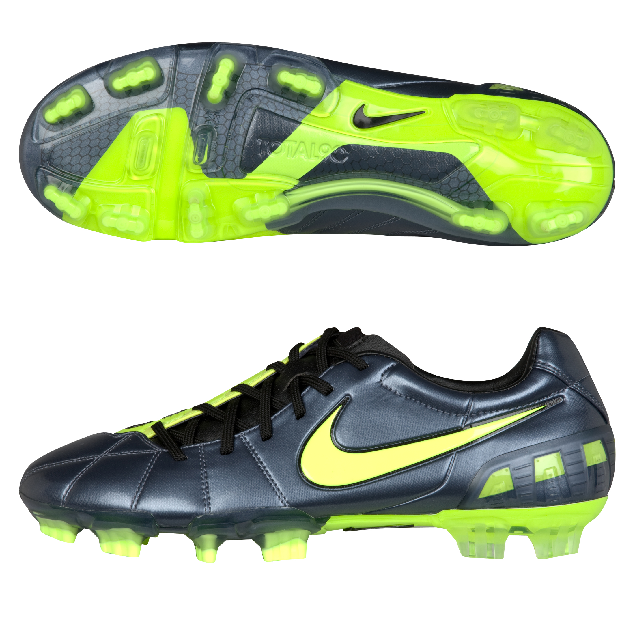 Nike T90 Laser III Firm Ground Metallic Blue Dusk/Volt/Black