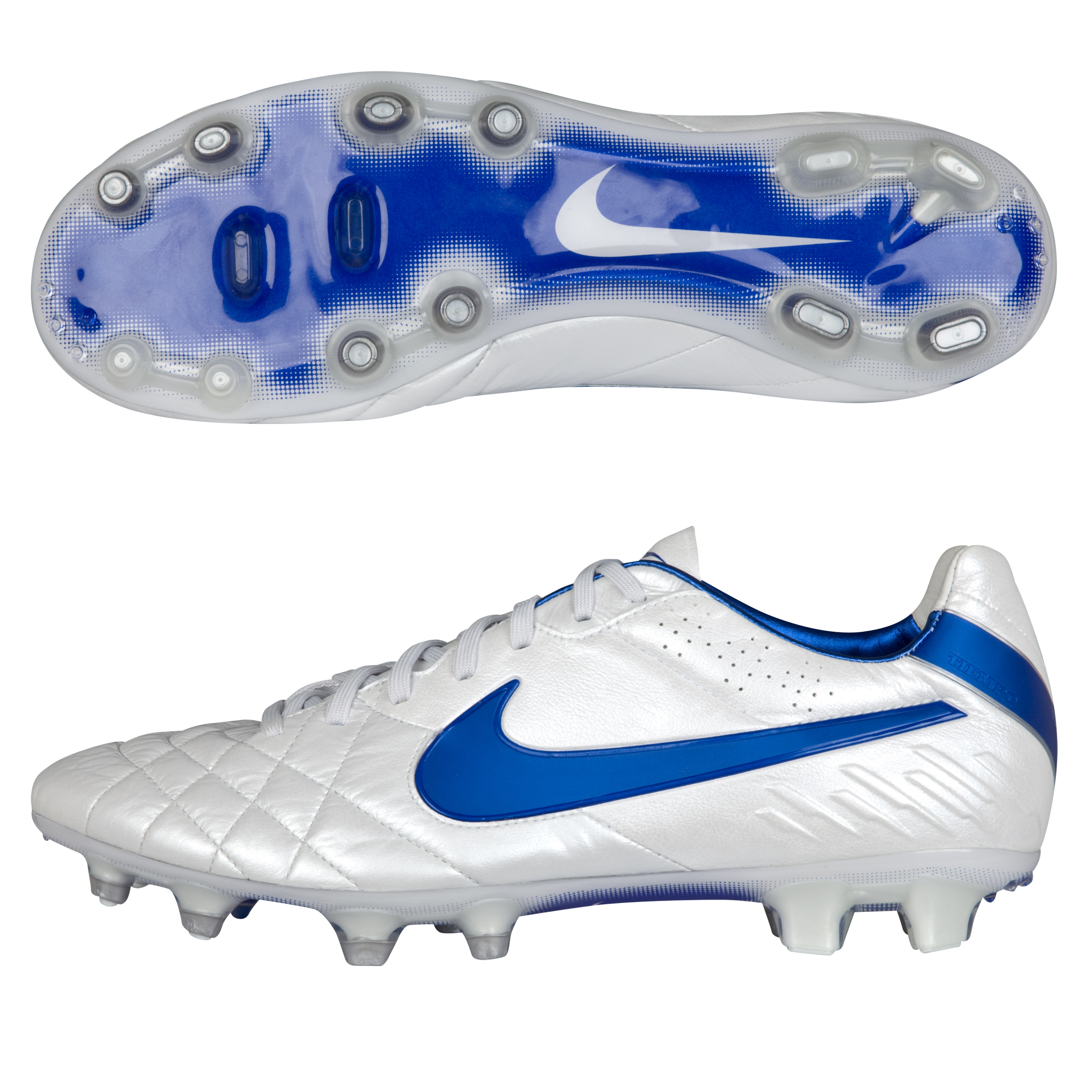 Tiempo Legend IV FG White/Treasure Blue/Metallic Silver