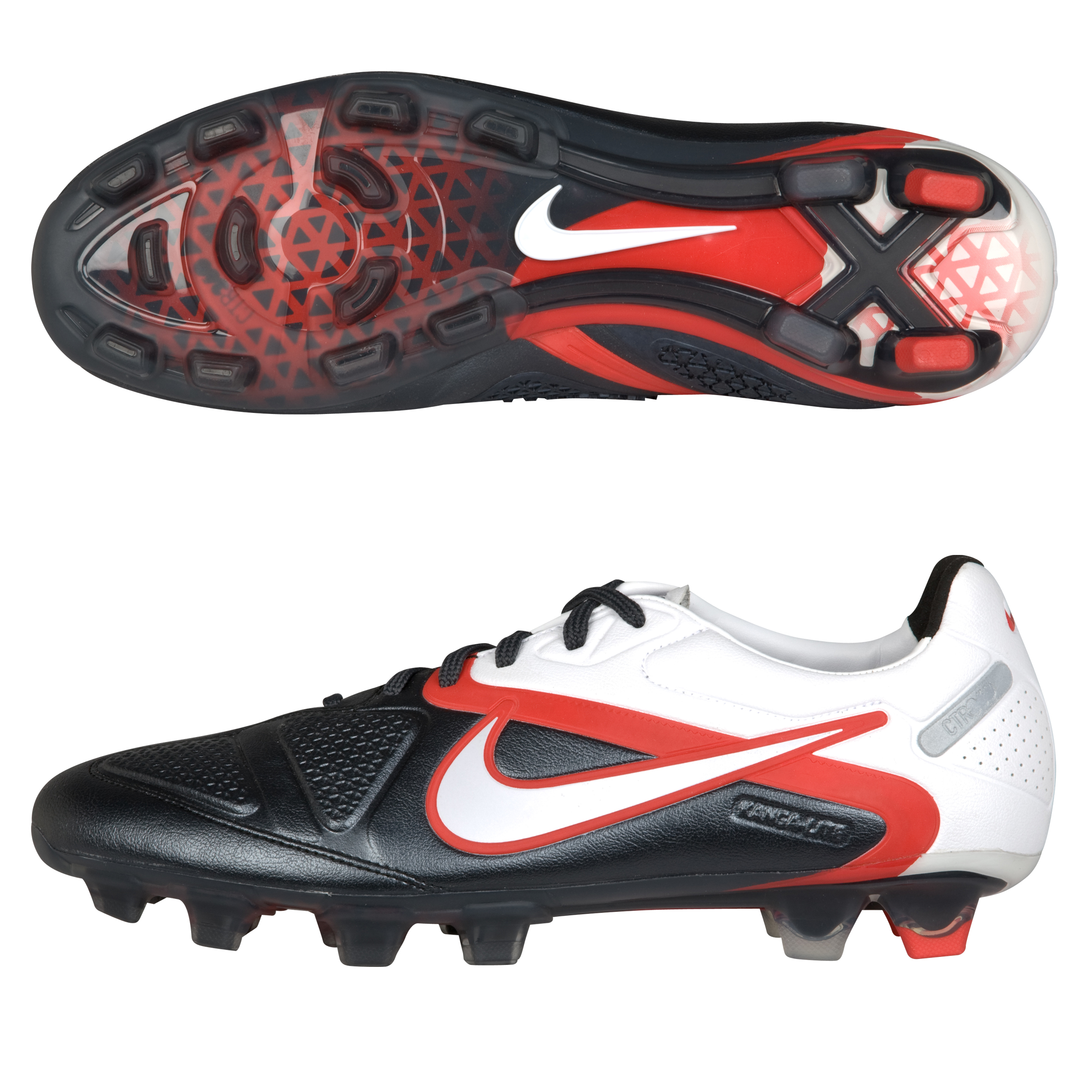 Nike CTR360 Maestri II Firm Ground Football Boots - Black/White/Challenge Red