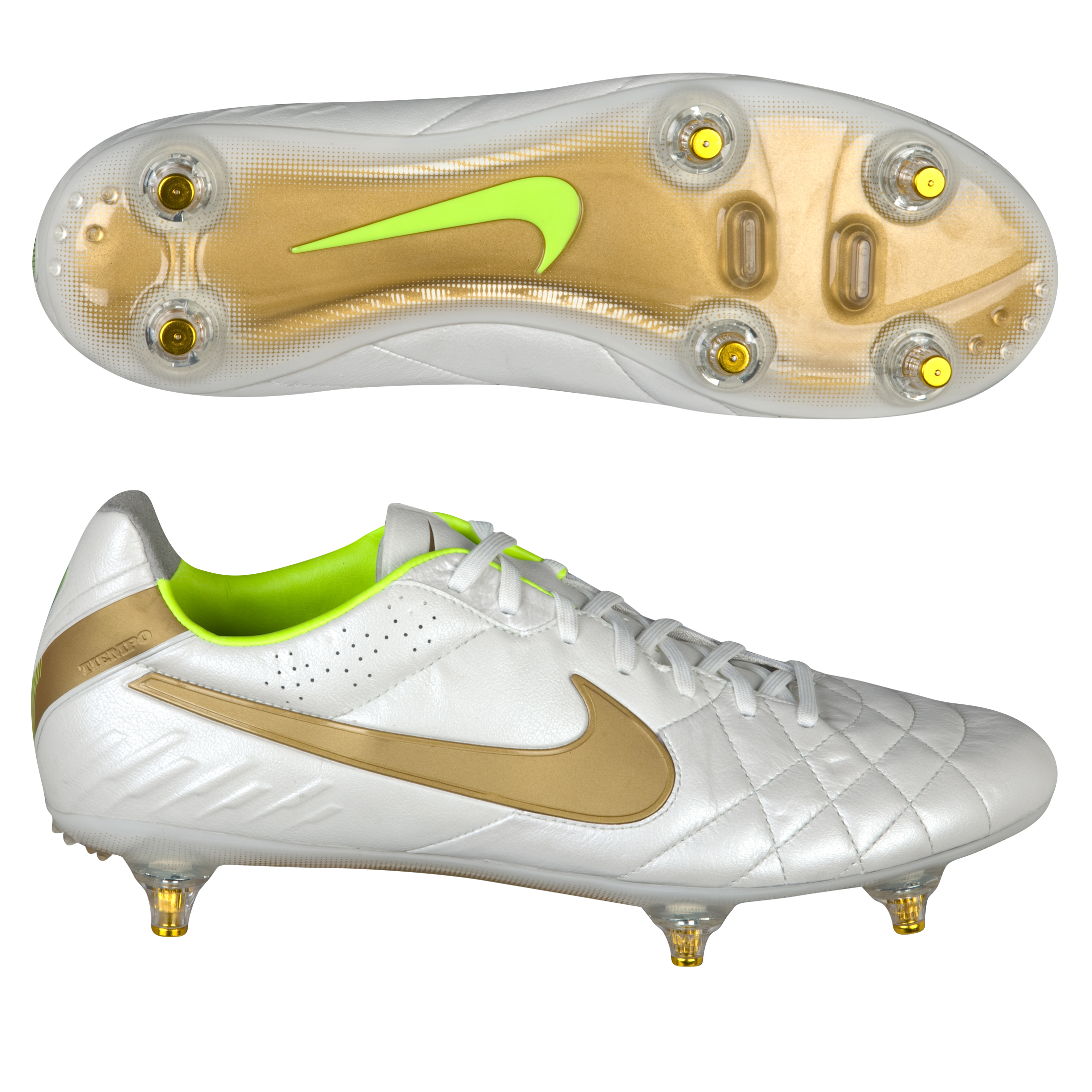 Nike Tiempo Legend IV Soft Ground Football Boots - Mtlc Summit Wht/Mtllc Gold/Vlt