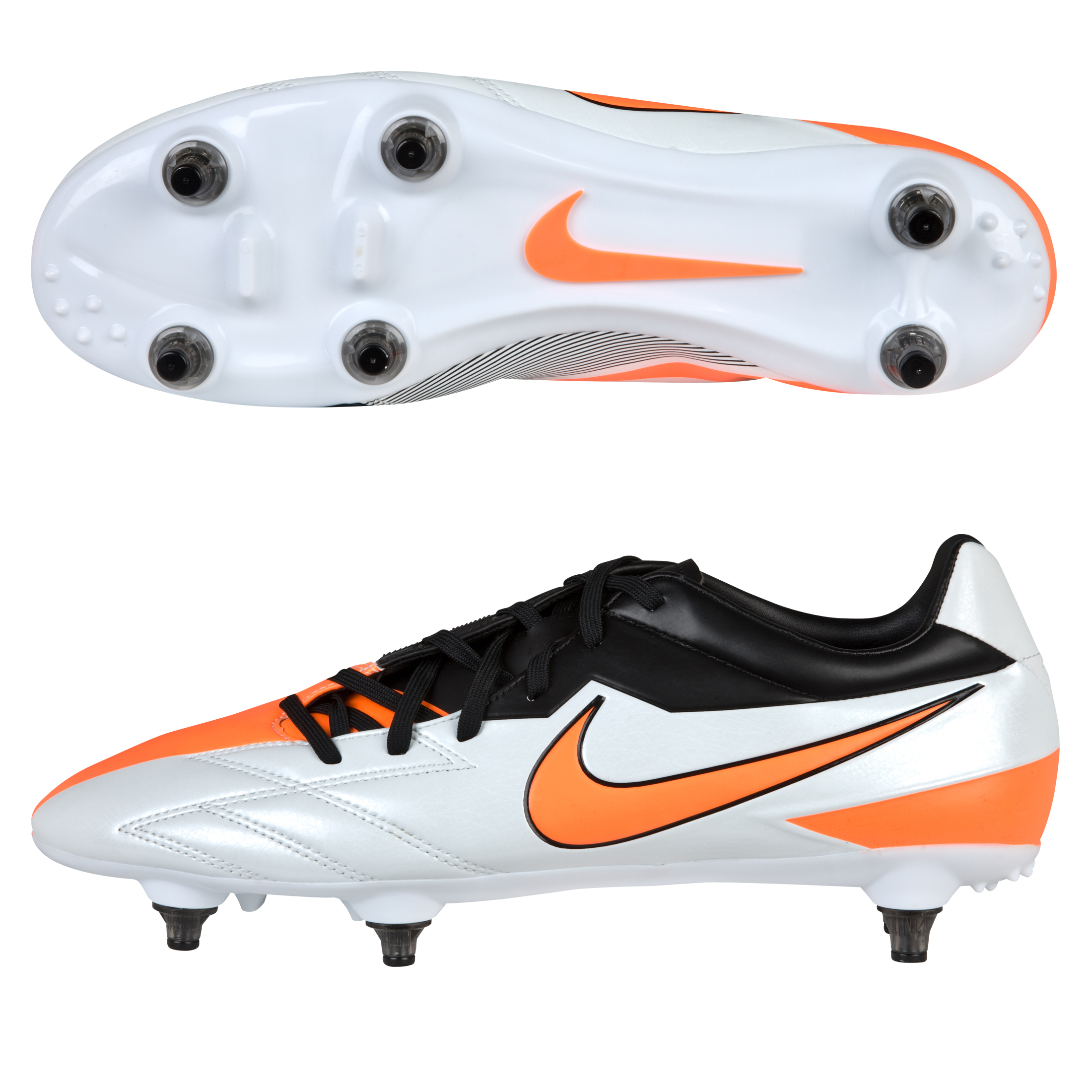 Nike Total90 Strike IV Soft Ground Football Boots - Windchill/Total Orange/Black