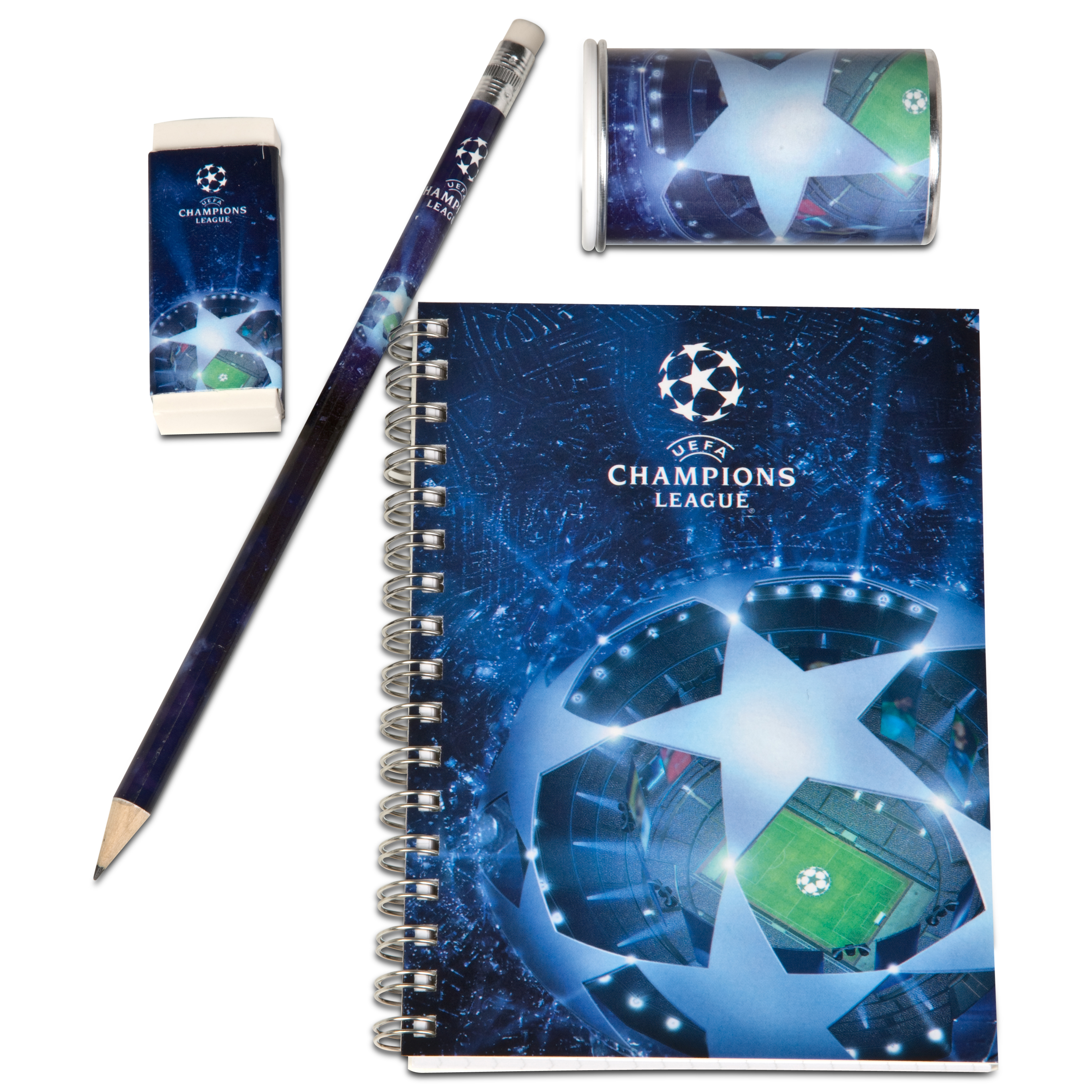 UEFA Champions League Stationery Set - 4 Pack