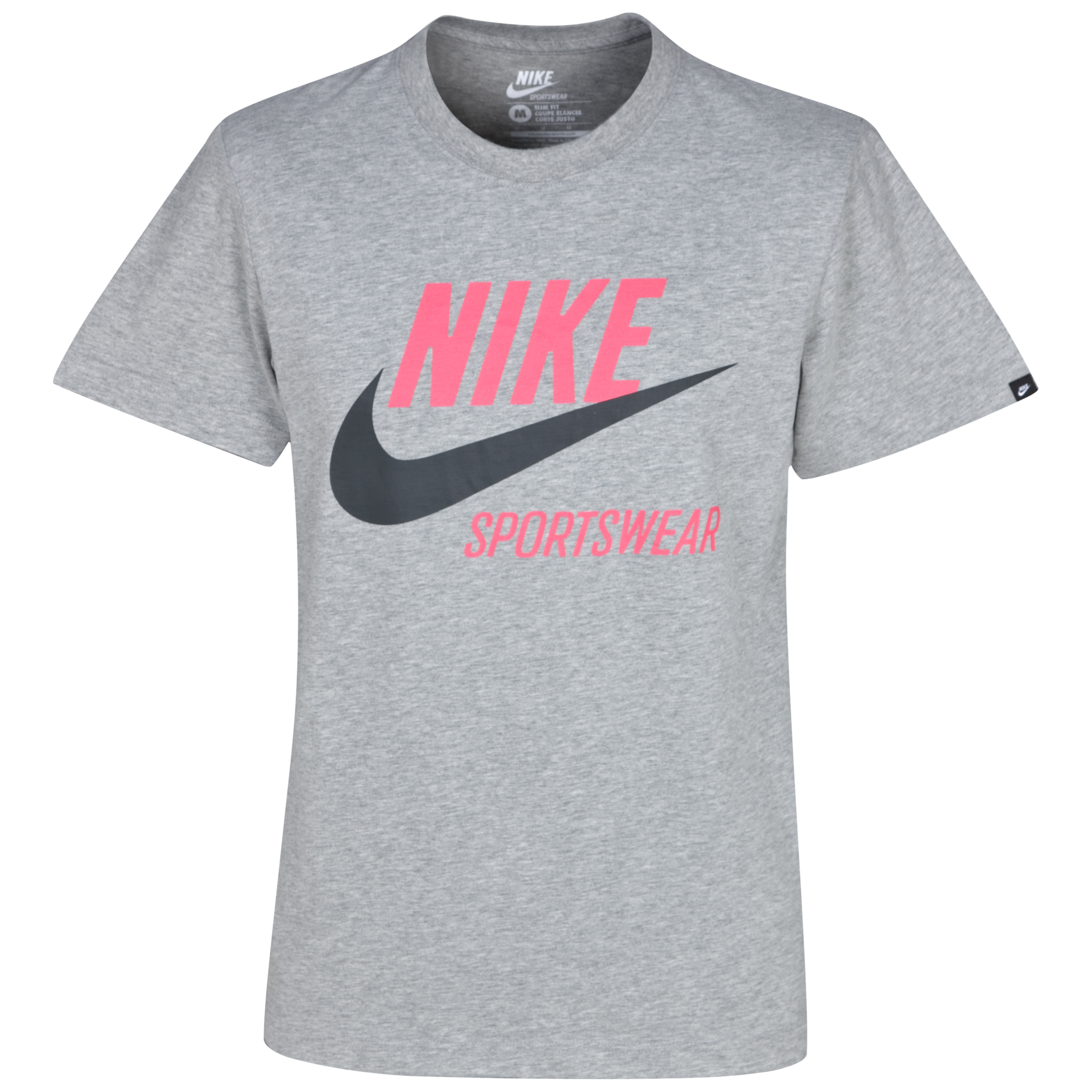 Nike Logo Tee - Grey/Red