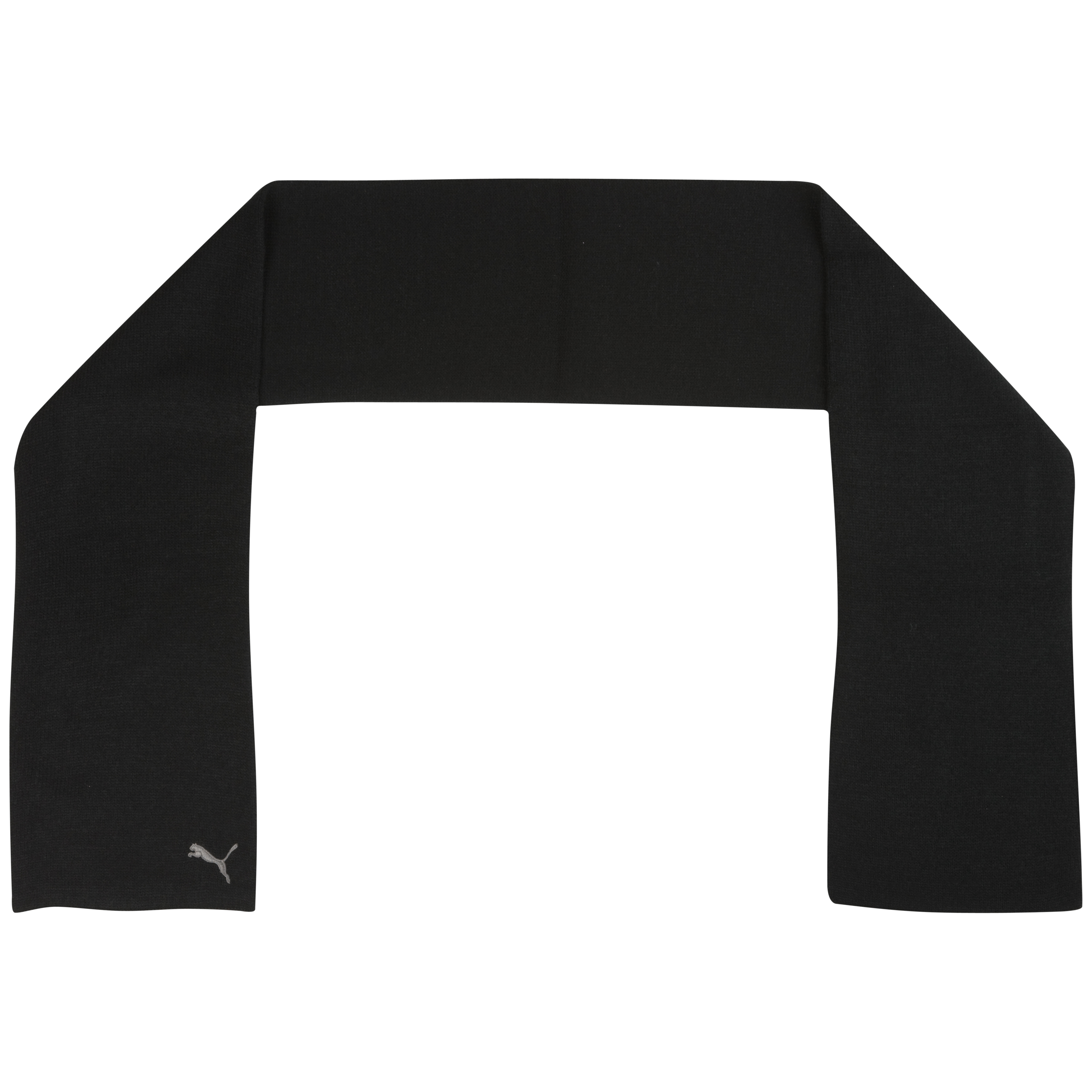 Puma Fundamentals Knit Scarf - Black/Grey