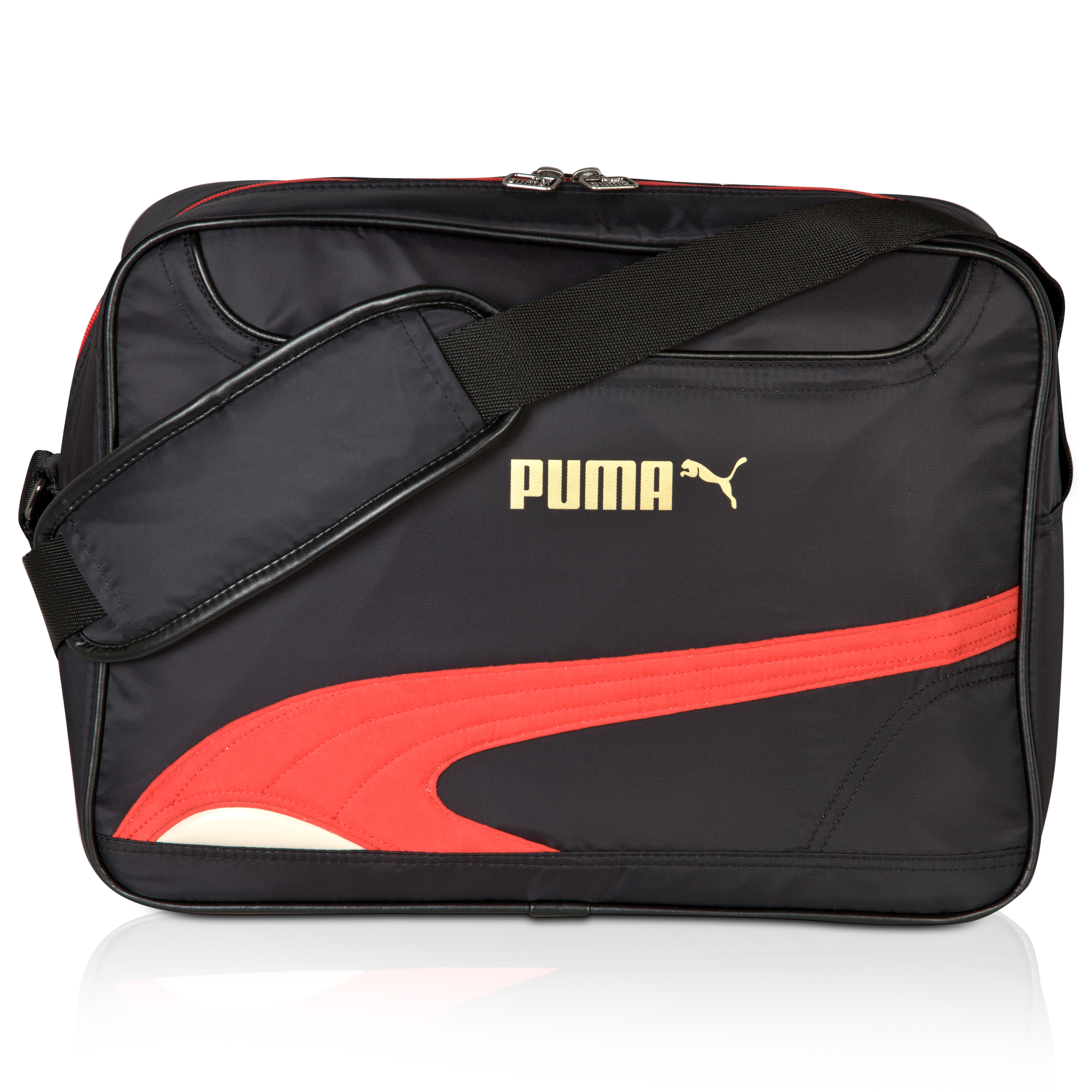 Puma Mirage Reporter Bag - Black/ Ribbon Red