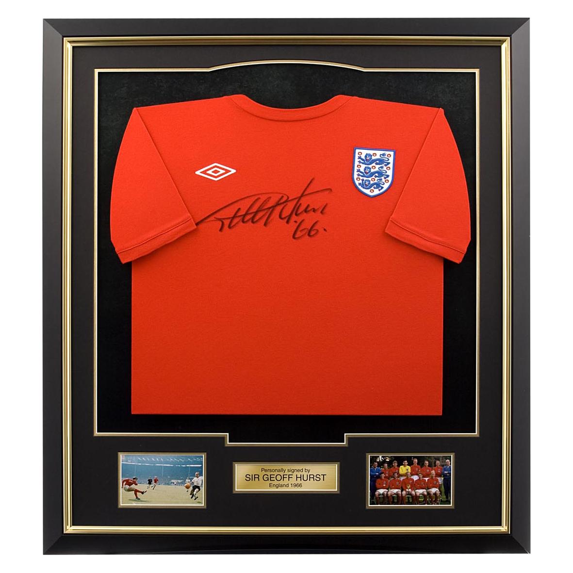 England 66 Geoff Hurst Signed Shirt - Framed