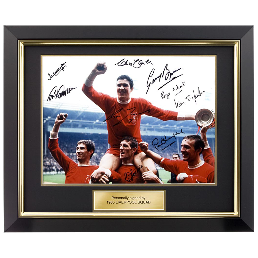 Liverpool Signed 1965 FA Cup Winners Photo - Framed
