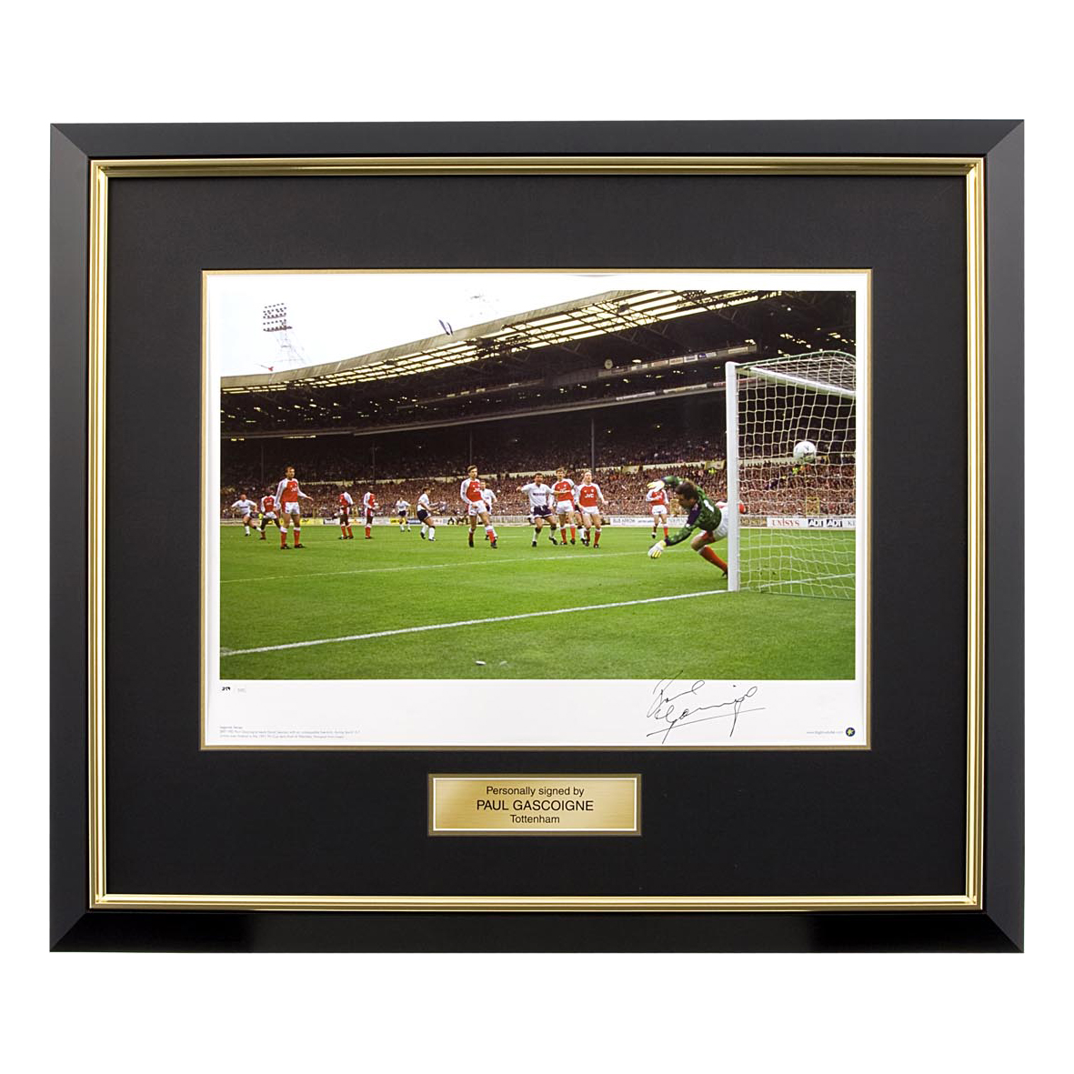 Tottenham Hotspur Tottenham Signed Gazza Photo - Framed
