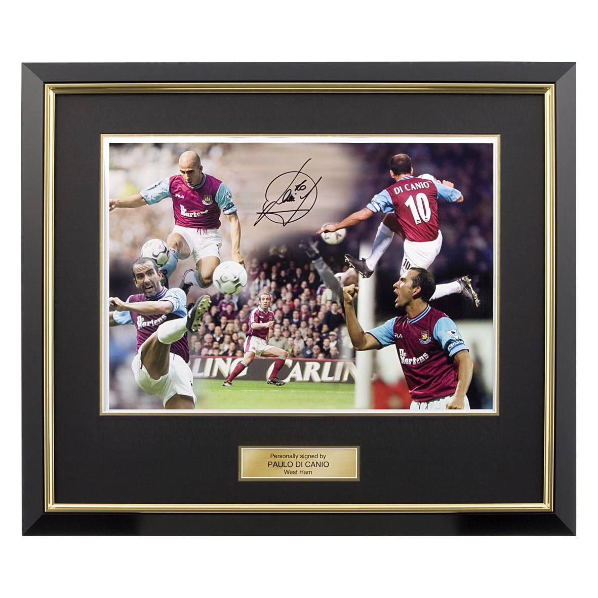 Signed Di Canio West Ham Montage Photo - Framed