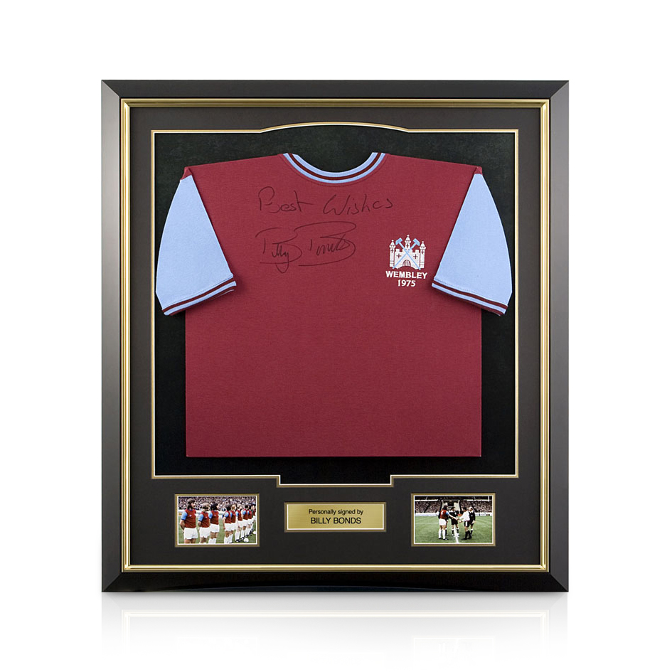 West Ham Utd Signed Billy Bonds Shirt - Framed