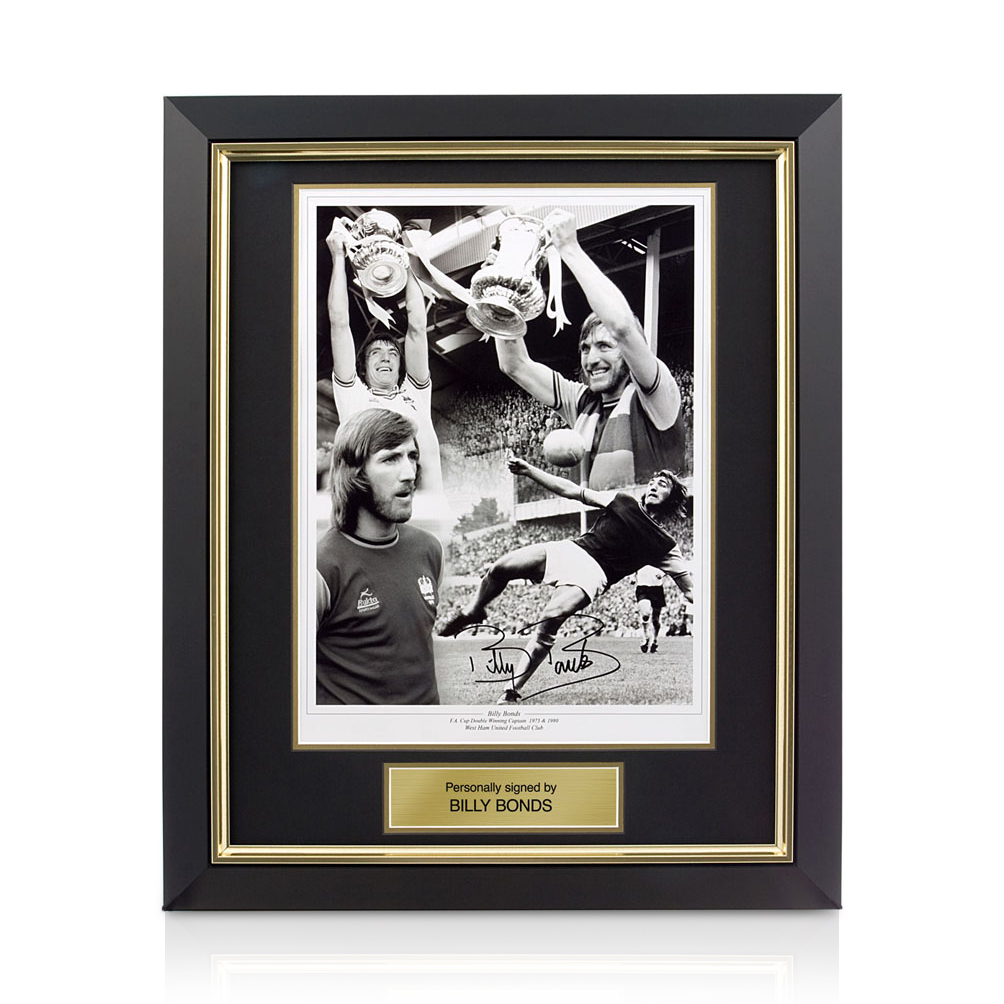 Signed Billy Bonds Photo - Framed