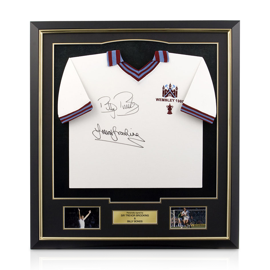 Signed Trevor Brooking and Billy Bonds Signed Shirt - Framed