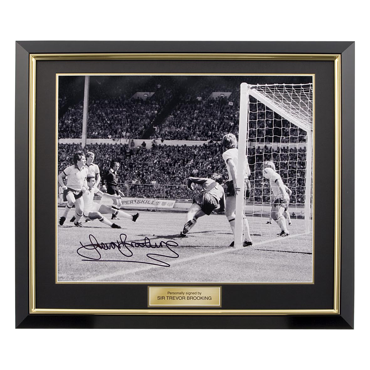 Signed Trevor Brooking Photo - Framed