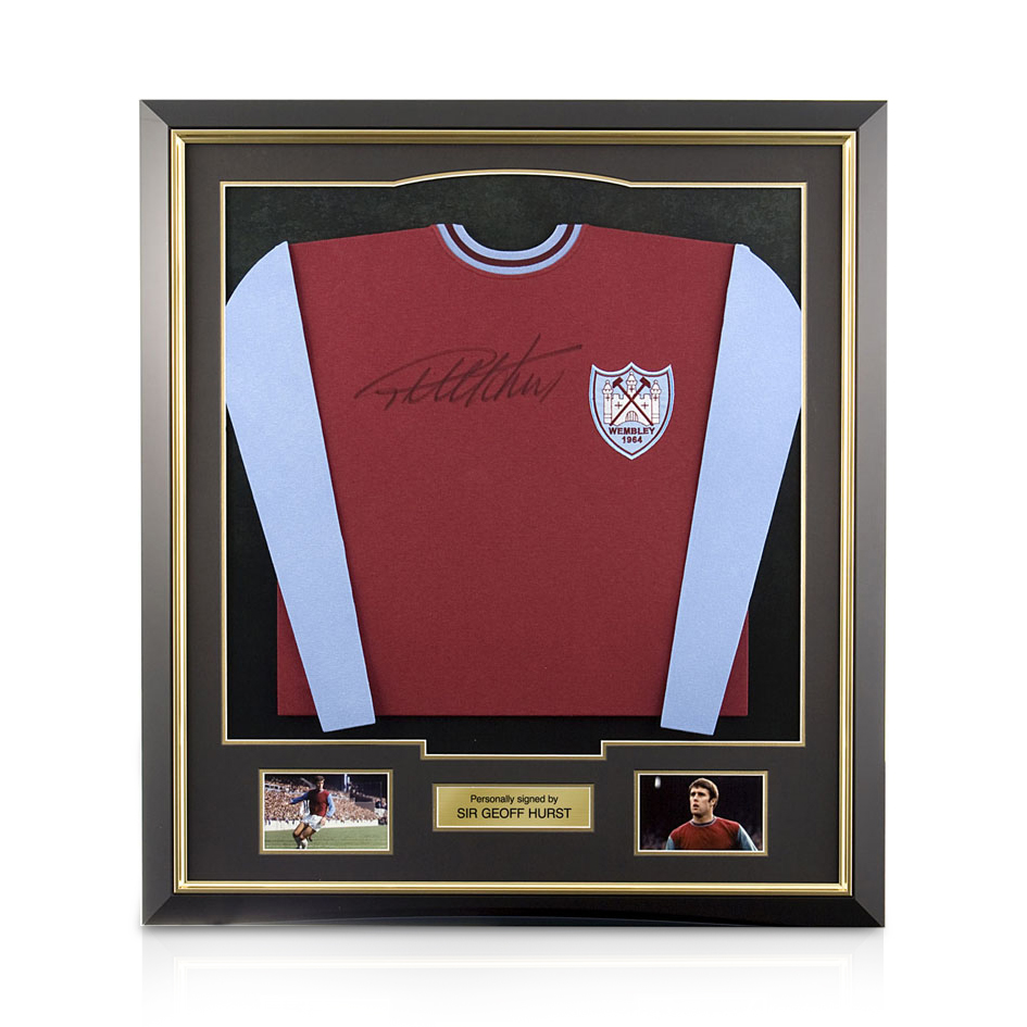 Signed Geoff Hurst Shirt - Framed