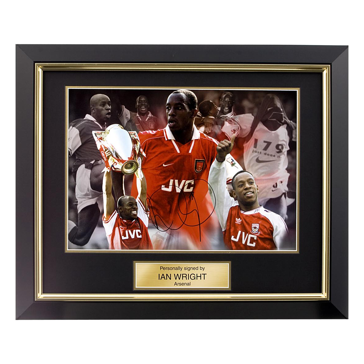 Arsenal Signed Ian Wright Photo - Framed