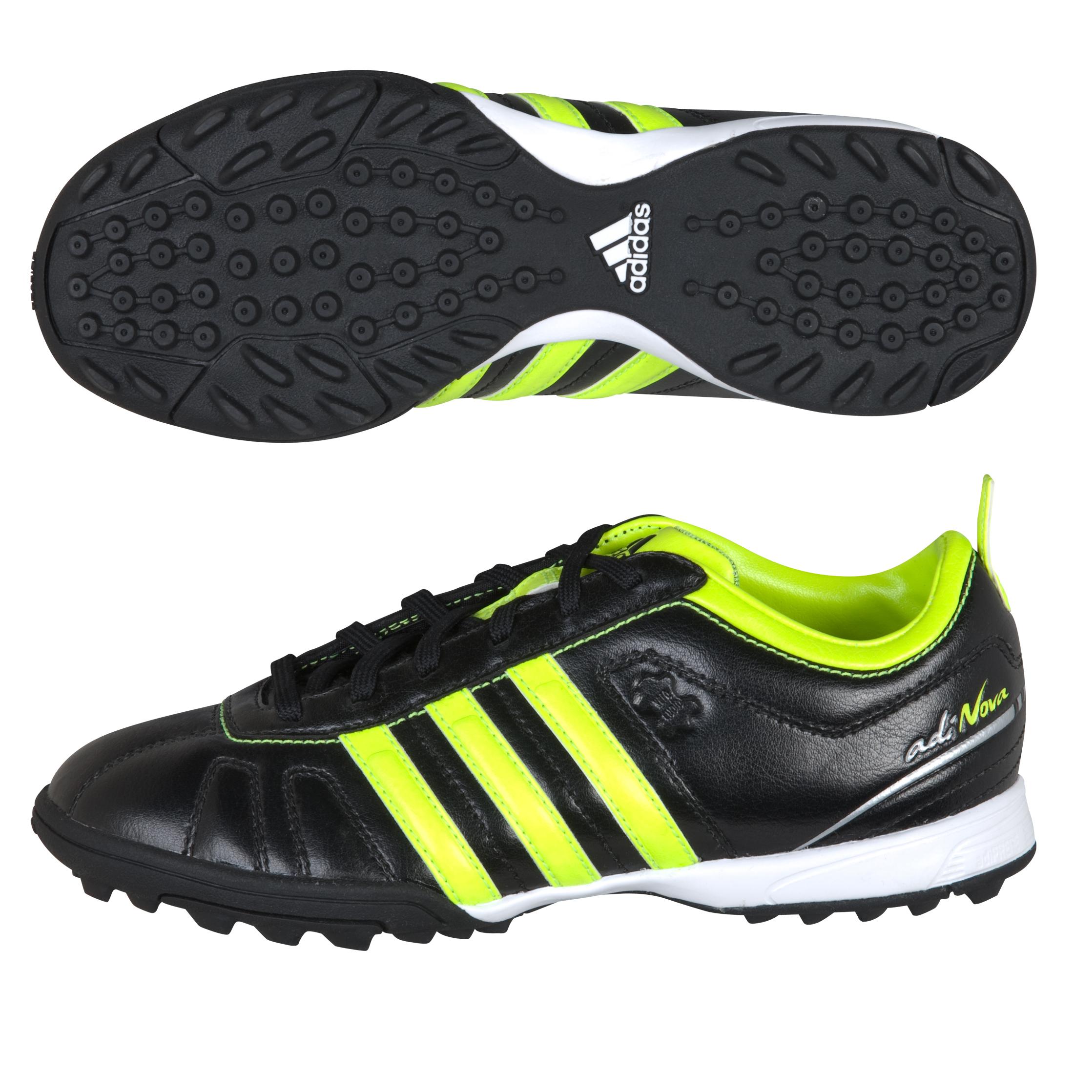 sports shoes 6ea08 af17a adidas adiNova IV TRX Astro Turf Trainers - Black Electricity Silver Met -  Kids