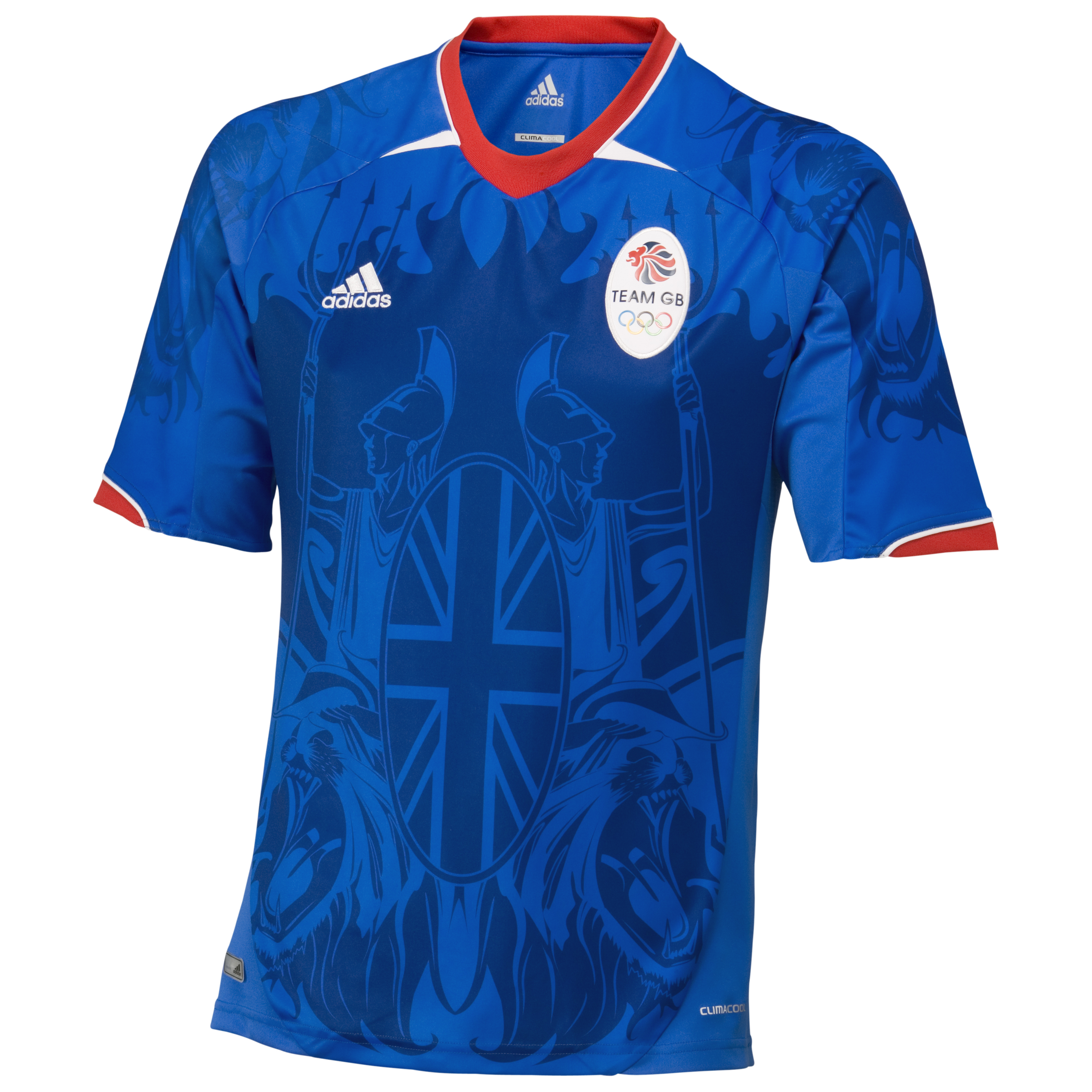 adidas Team GB Supporters Jersey Collegiate Royal/Air Force Blue/University Red  Kids