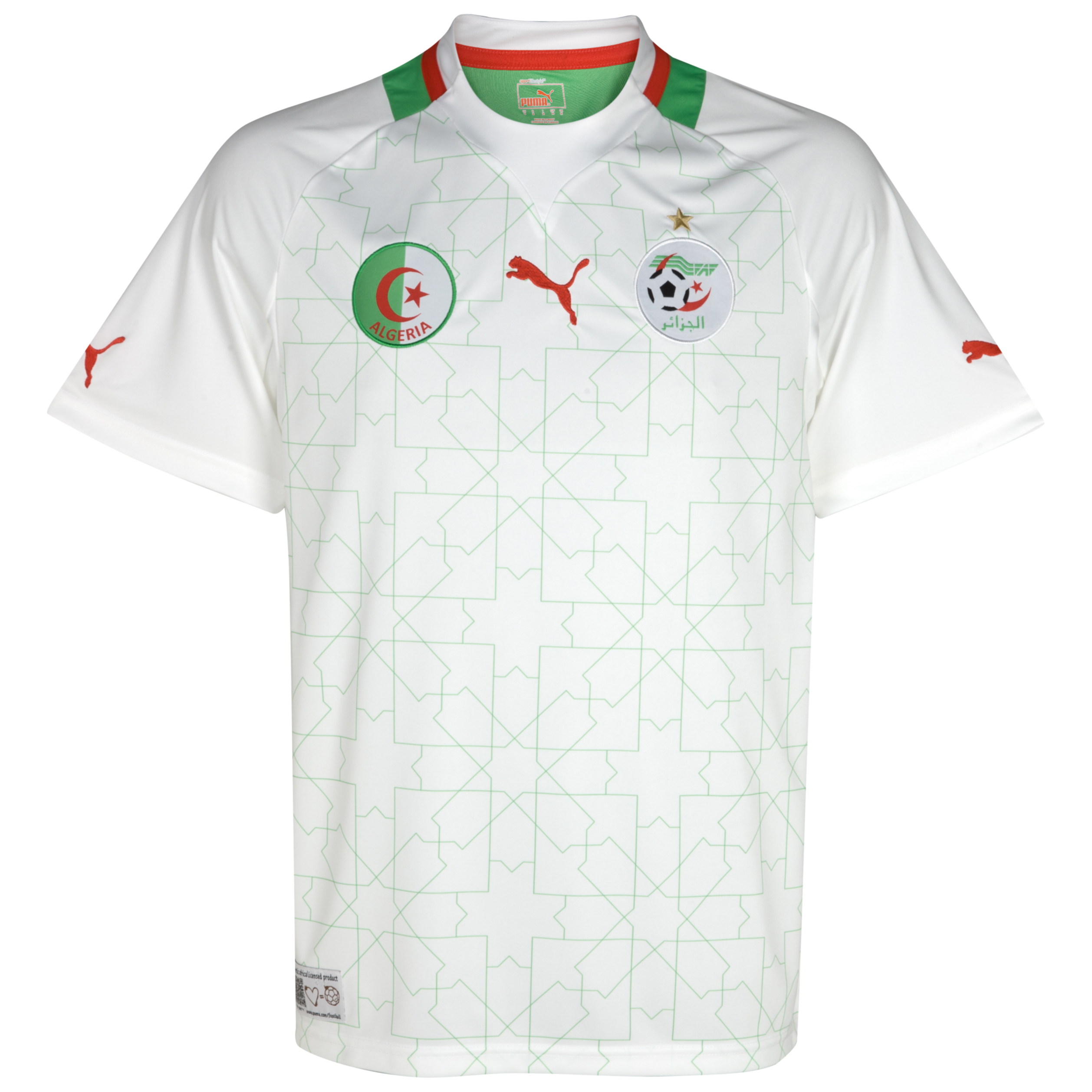 Algeria Home Shirt  2011/13 - White/Flash