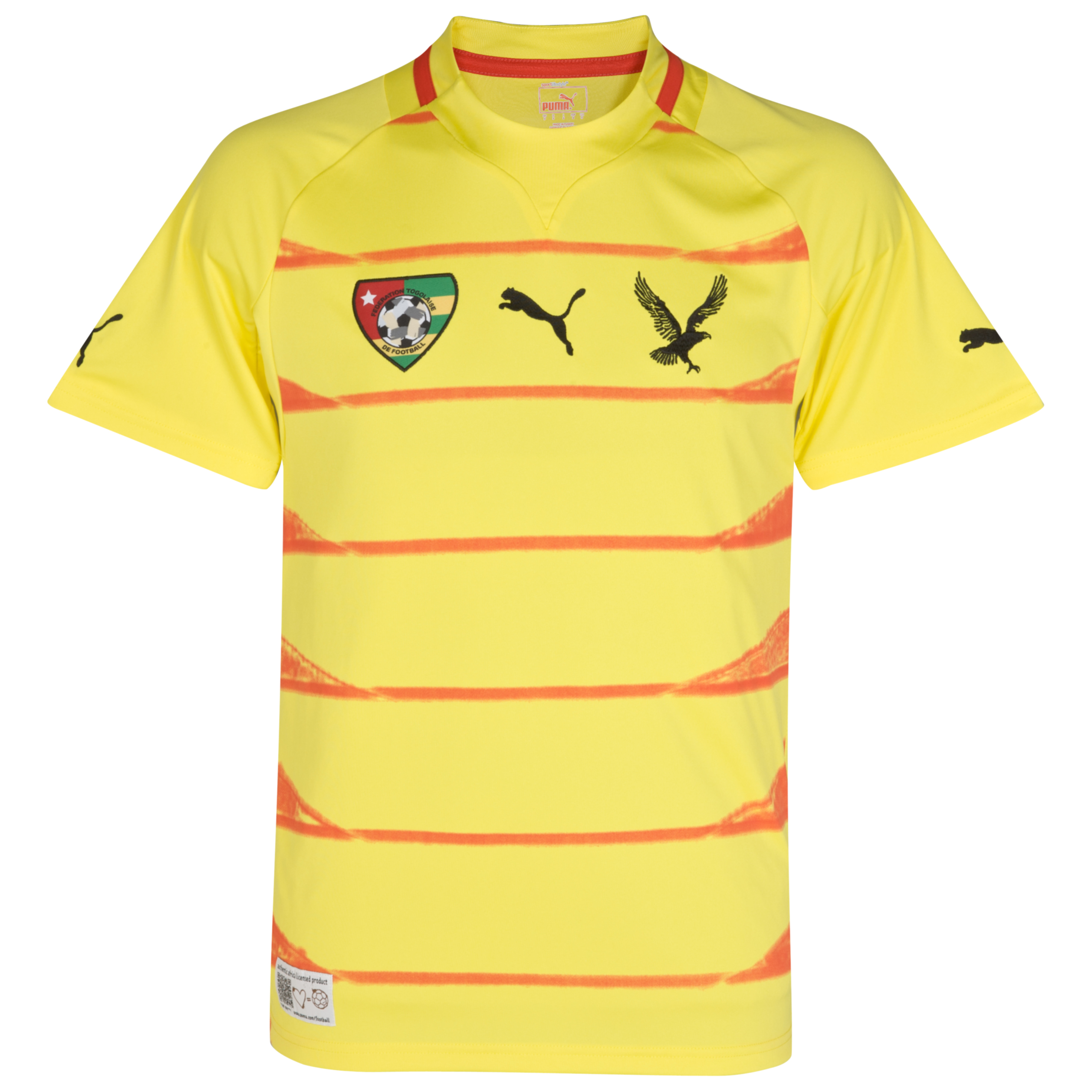 Togo Home Shirt  2011/13 - Blazing Yellow/Poison Green