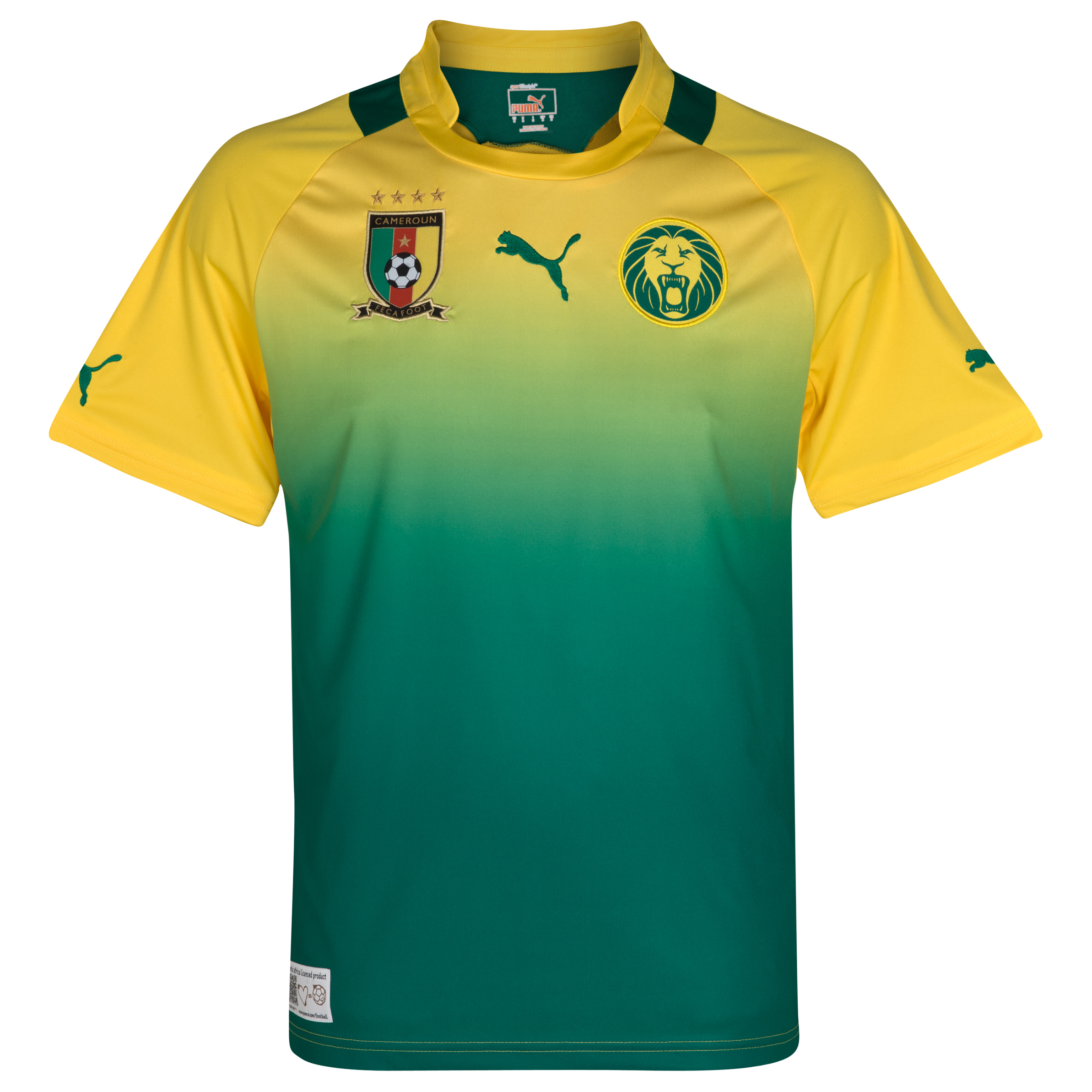 Cameroon Away Shirt 2011/13 Dandelion/Power Green
