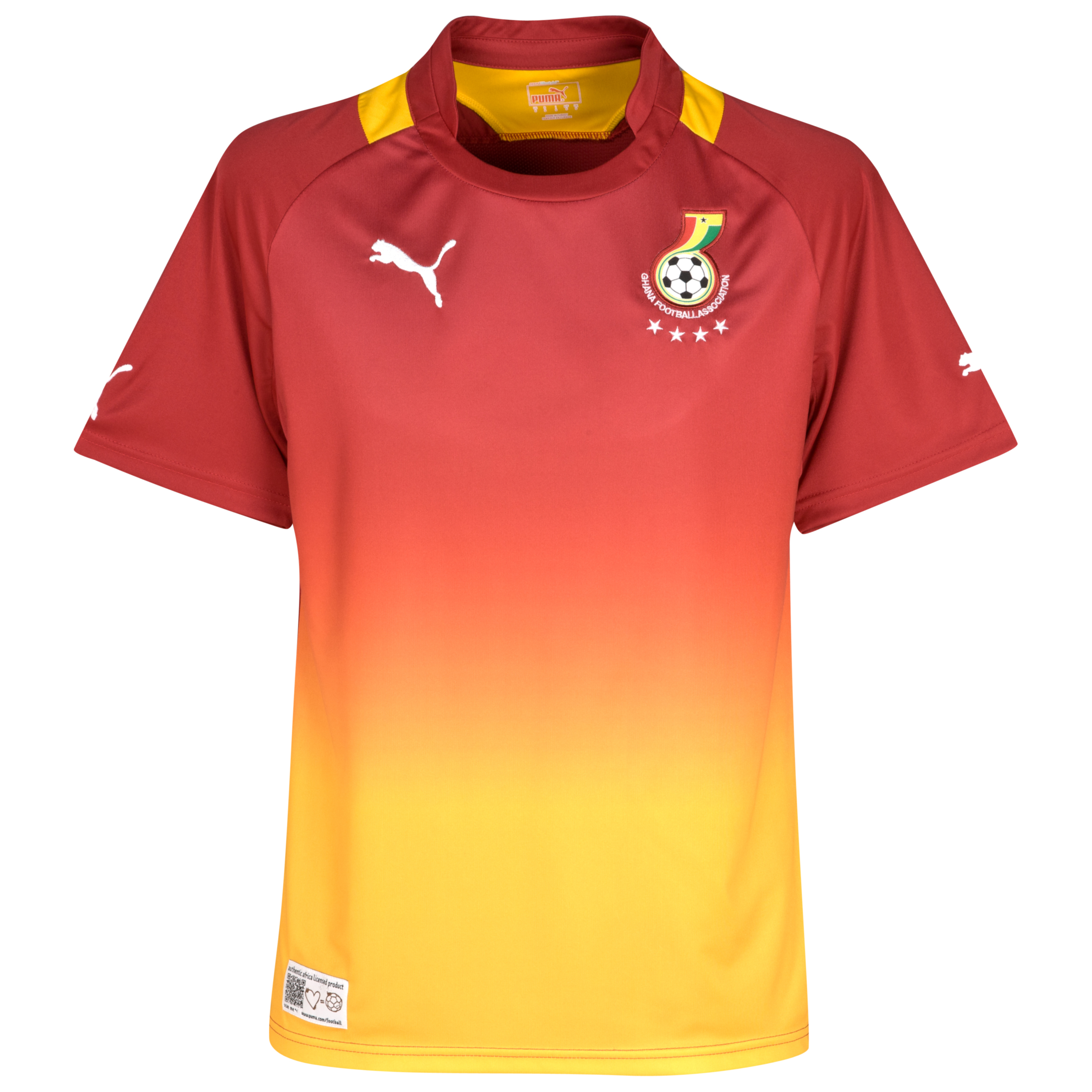 Ghana Away Shirt 2011/13 - Chili Pepper/Gold Fusion