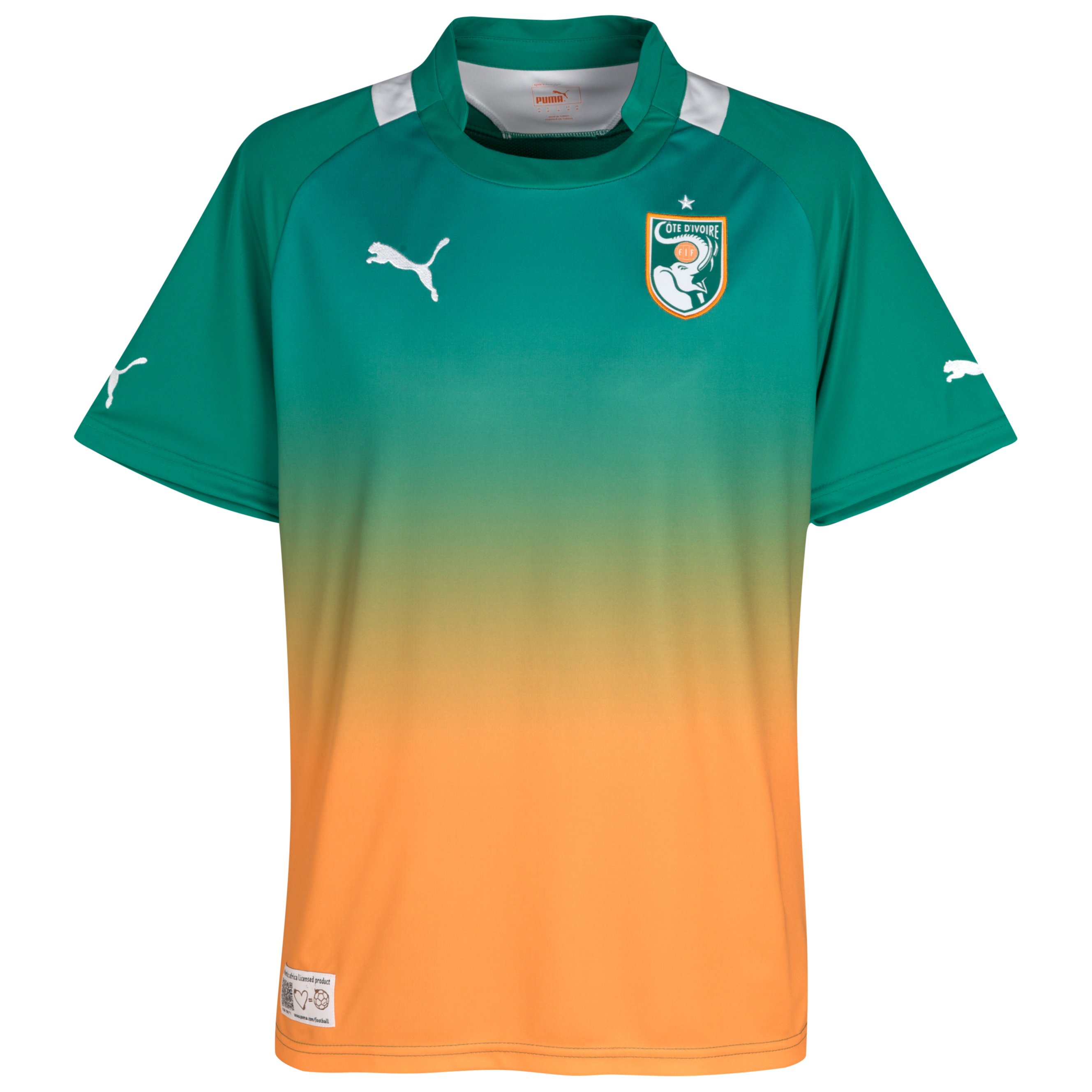 Ivory Coast Away Shirt 2011/13 - Pepper Green/White