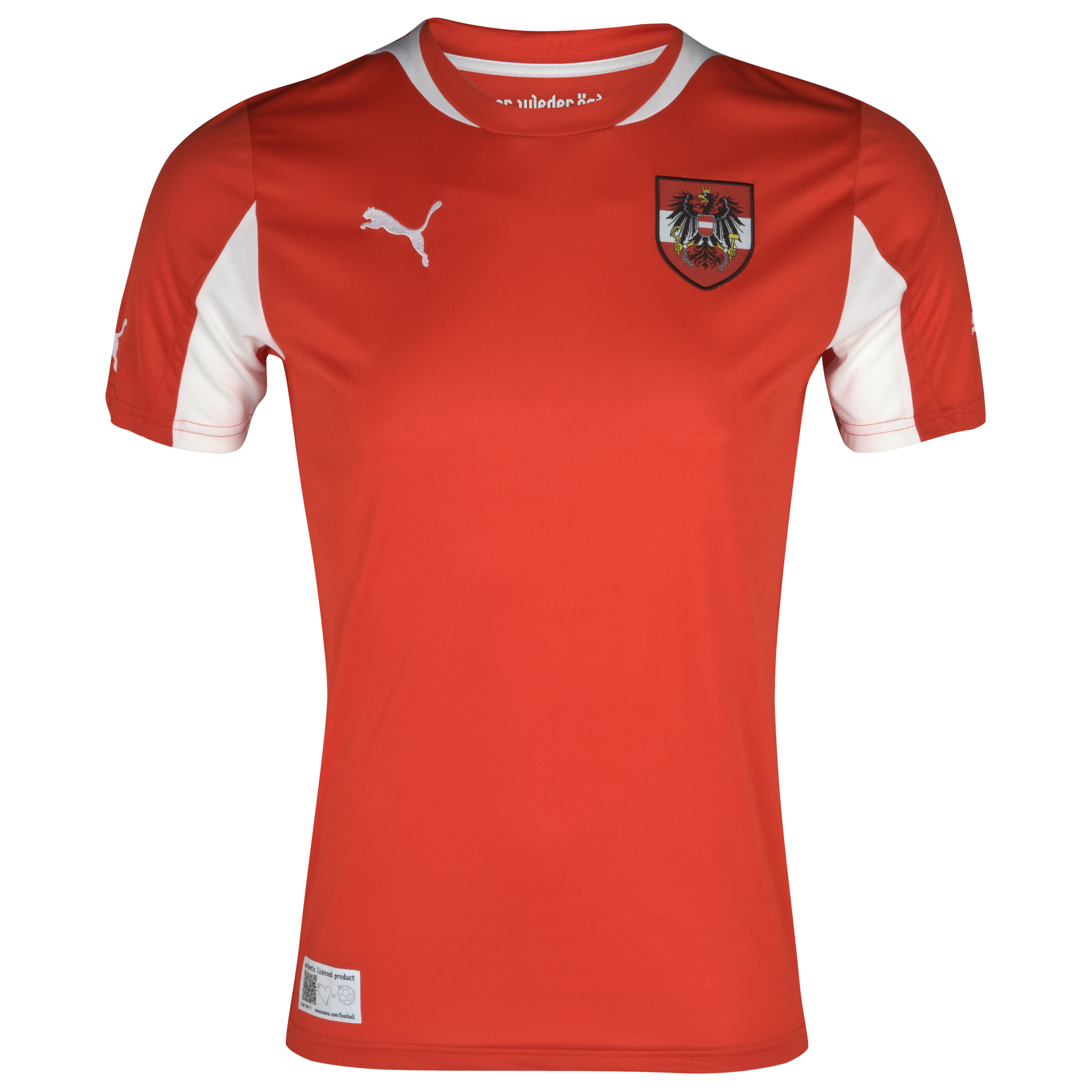 Austria Home Shirt Replica - Puma Red/White