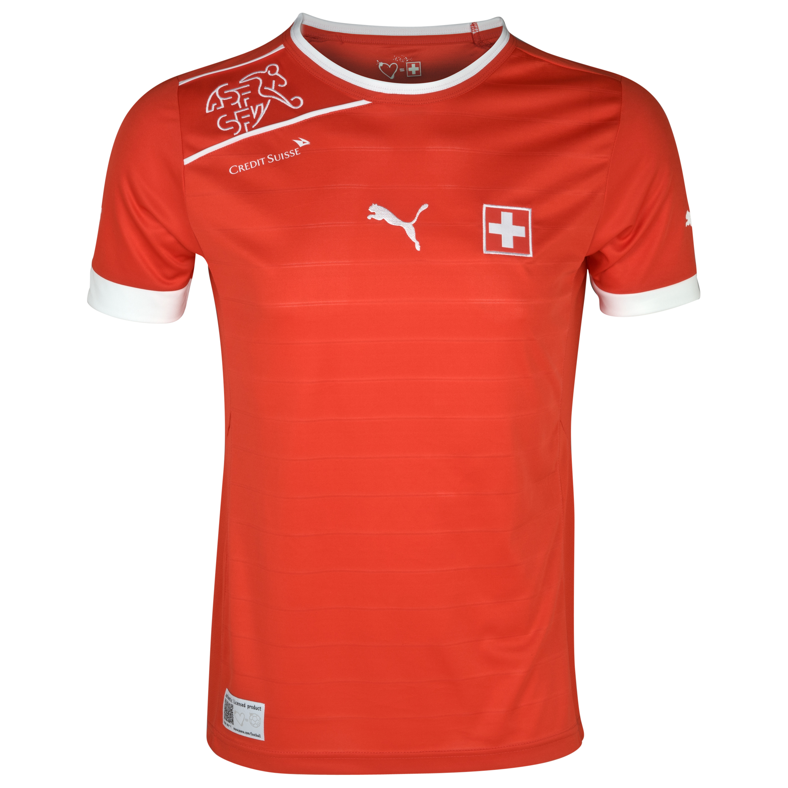 Switzerland Home Shirt Replica - Puma Red/White