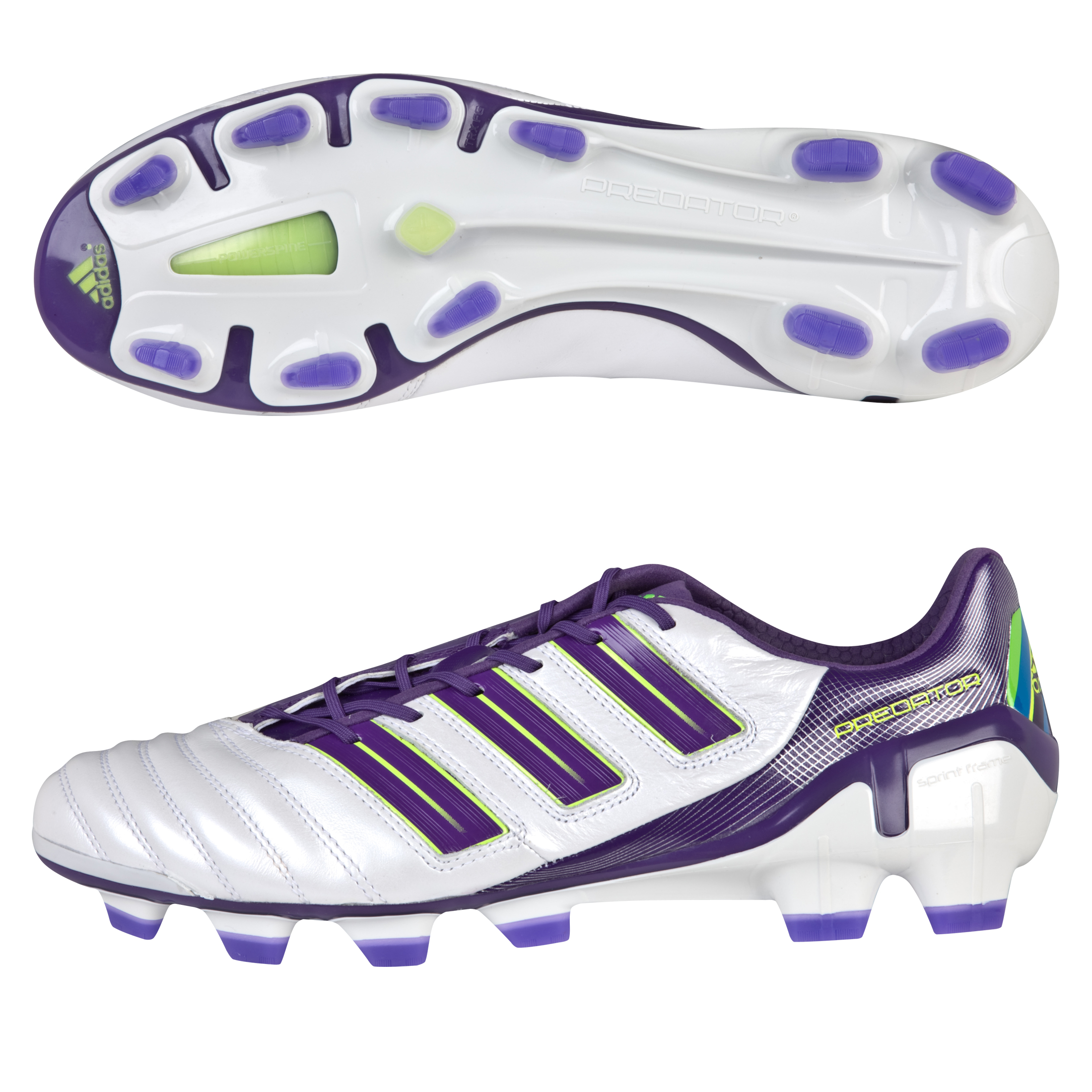 adidas adipower Predator TRX Firm Ground Football Boots - Predator Run Wht / Sharp Purple