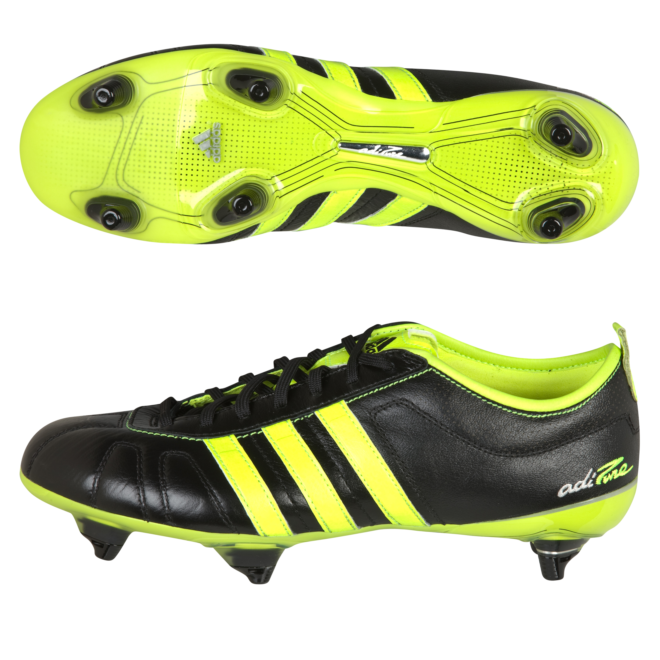 adidas adiPURE IV TRX Soft Ground Football Boots - Black/Electricity/Silver Met