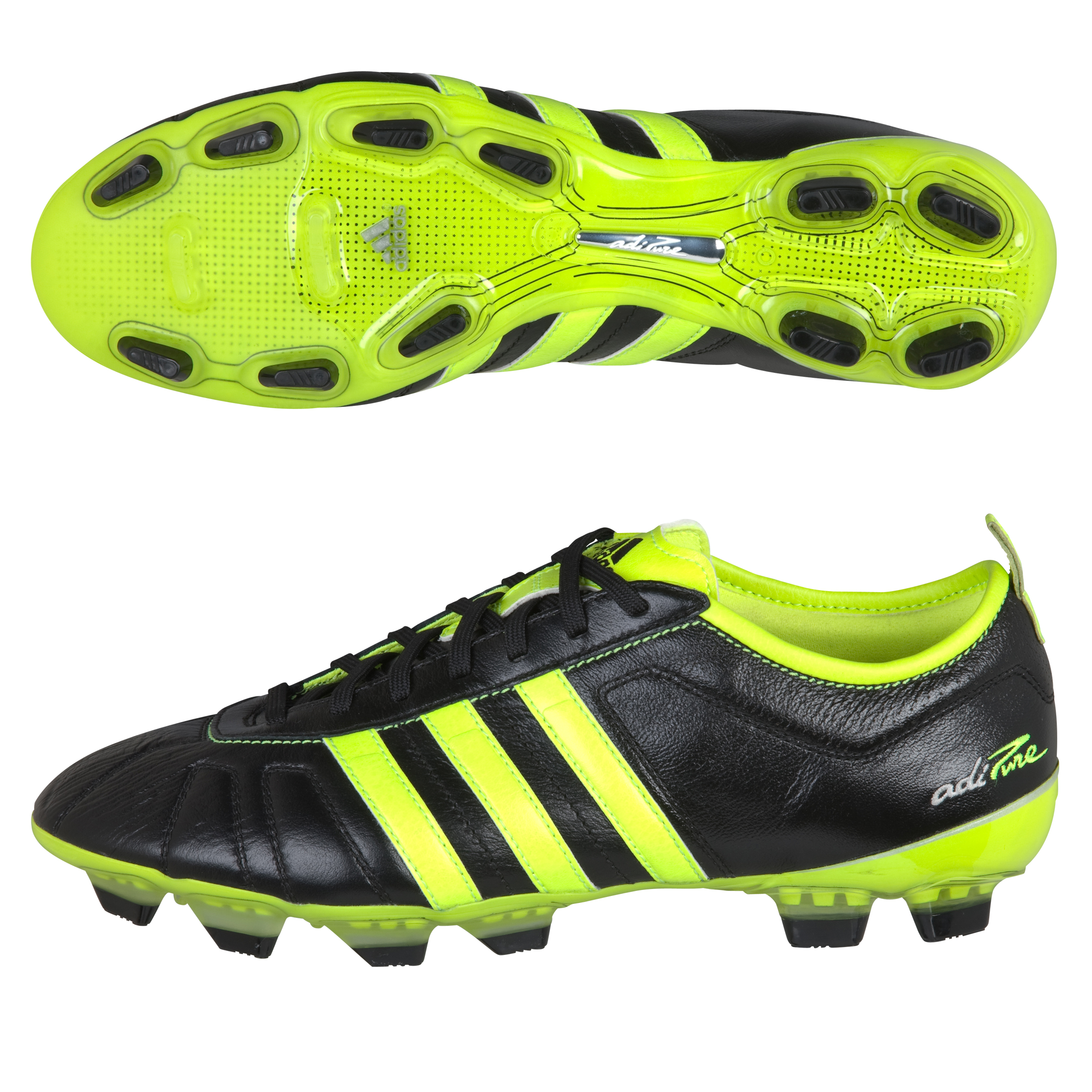 adidas adiPURE IV TRX Firm Ground Football Boots - Black/Electricity/Silver Met
