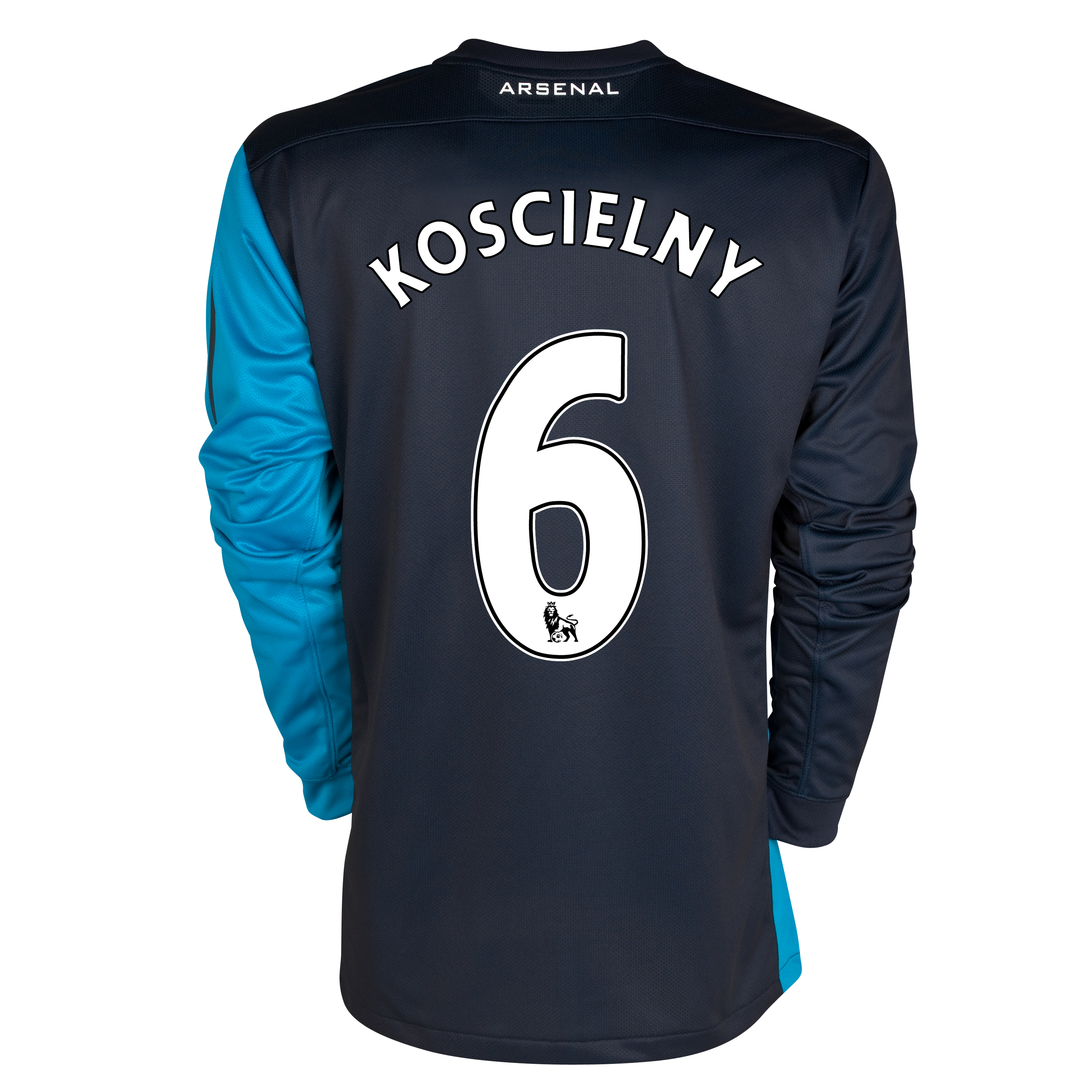 Arsenal Away Shirt 2011/12 - Long Sleeved - Kids with Koscielny 6 printing