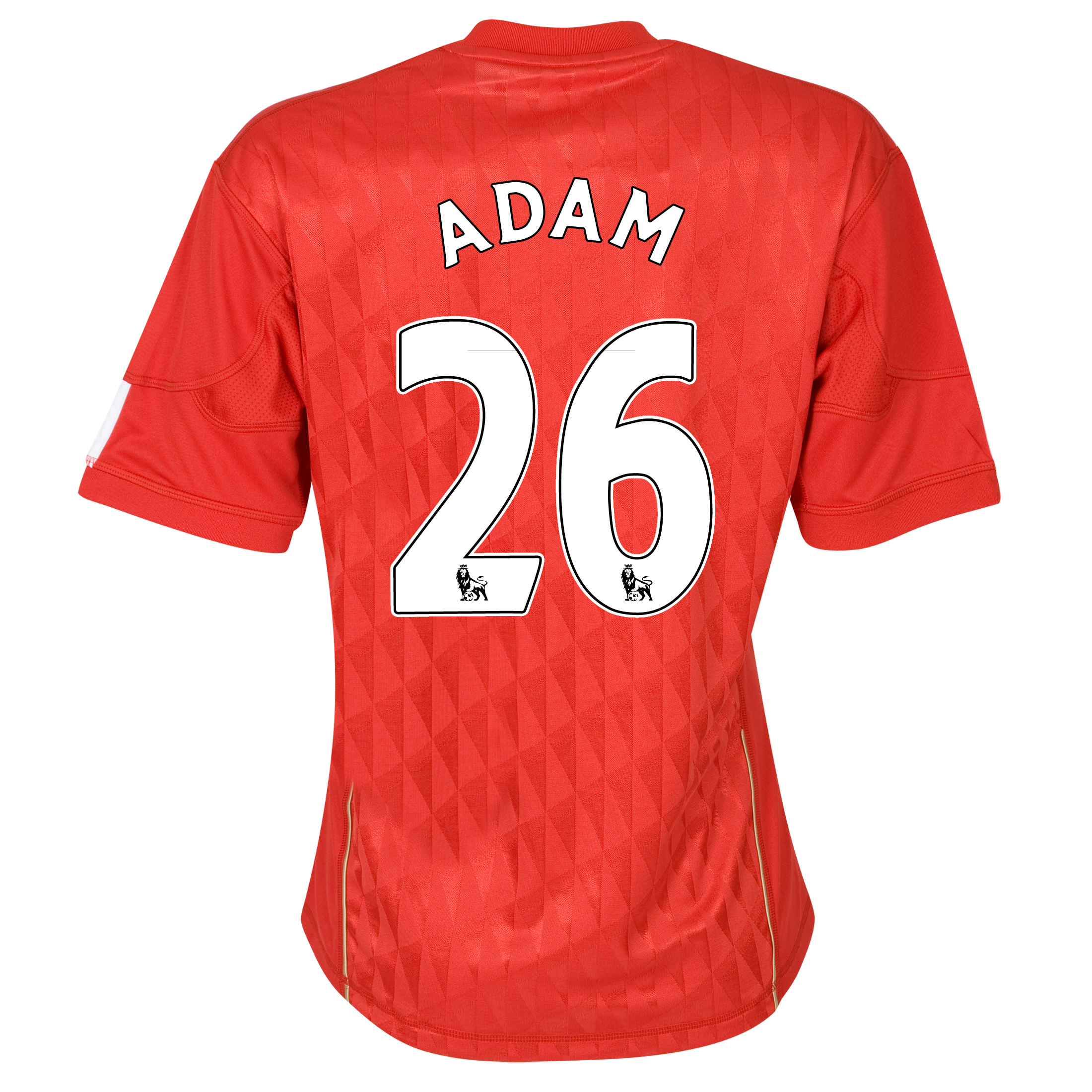 Liverpool Home Shirt 2010/12 - Womens with Adam 26 printing
