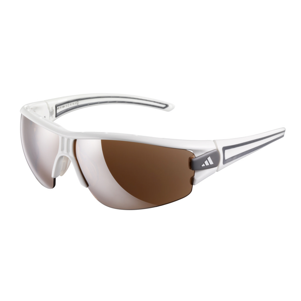 adidas Evil Eye Half Rim Pro Sunglasses - Shiny White/Antracite - Small