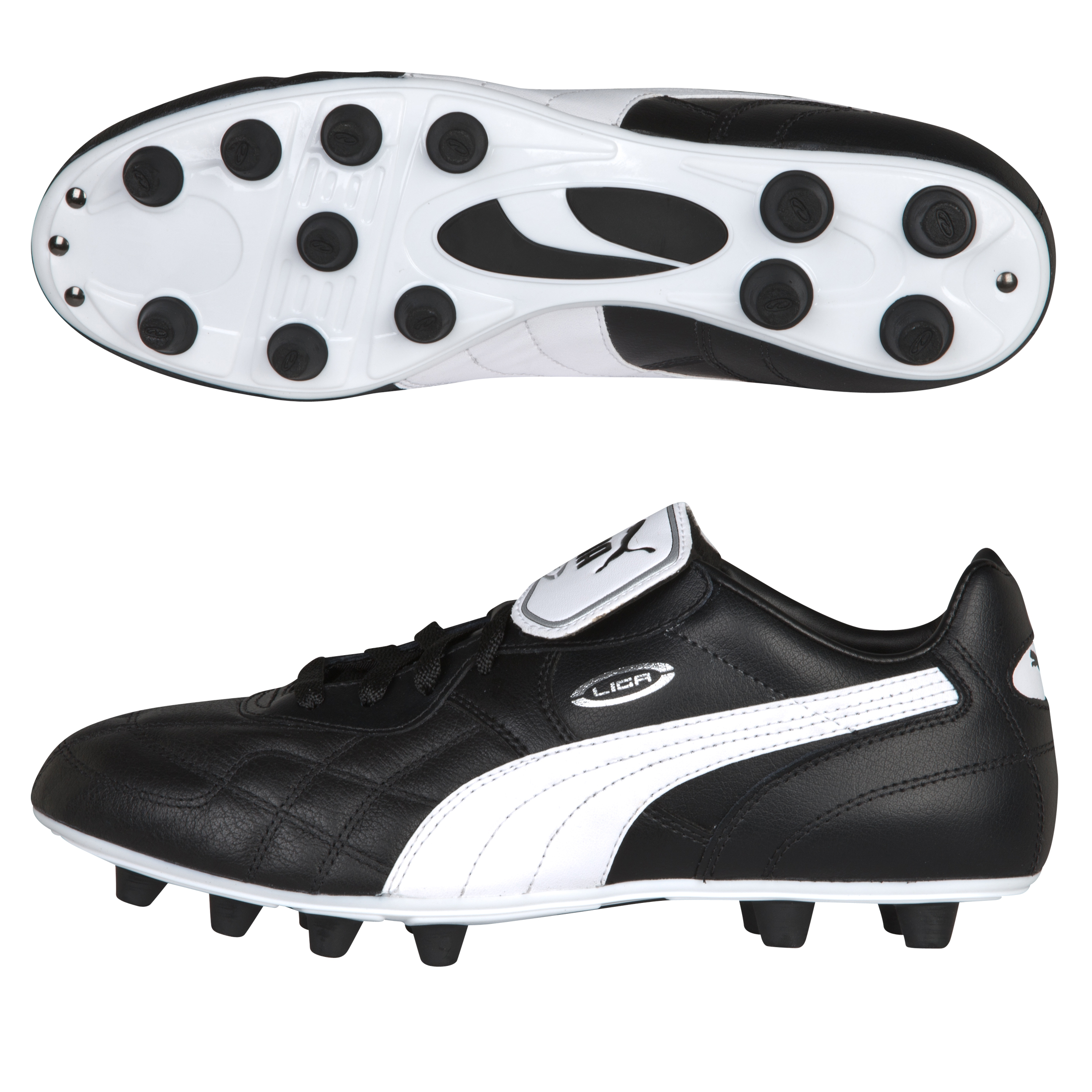 Puma King Top K Football Boots - Black/White/Team Gold