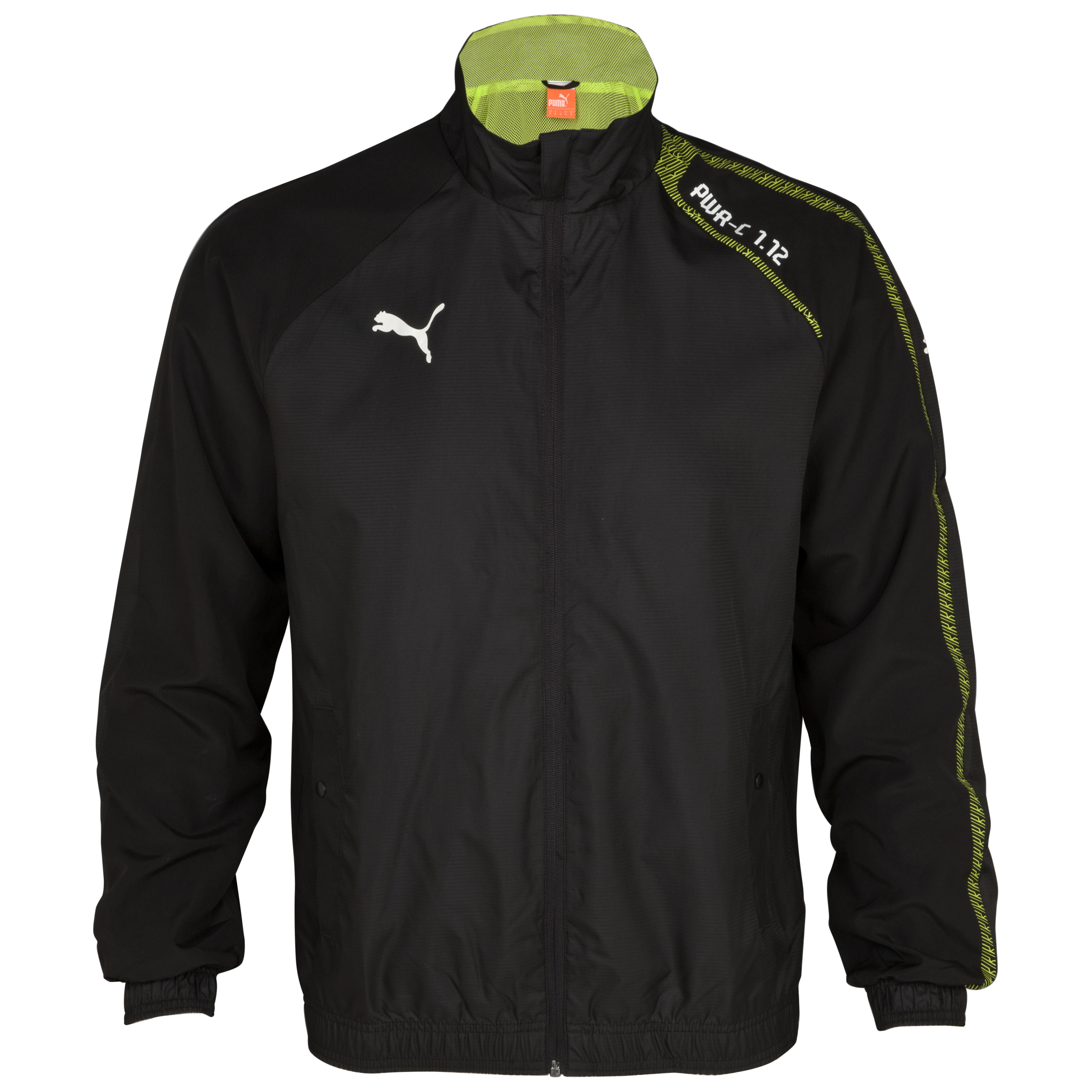 Puma Italia PowerCat 1.12 Woven Jacket - Black/Lime Punch