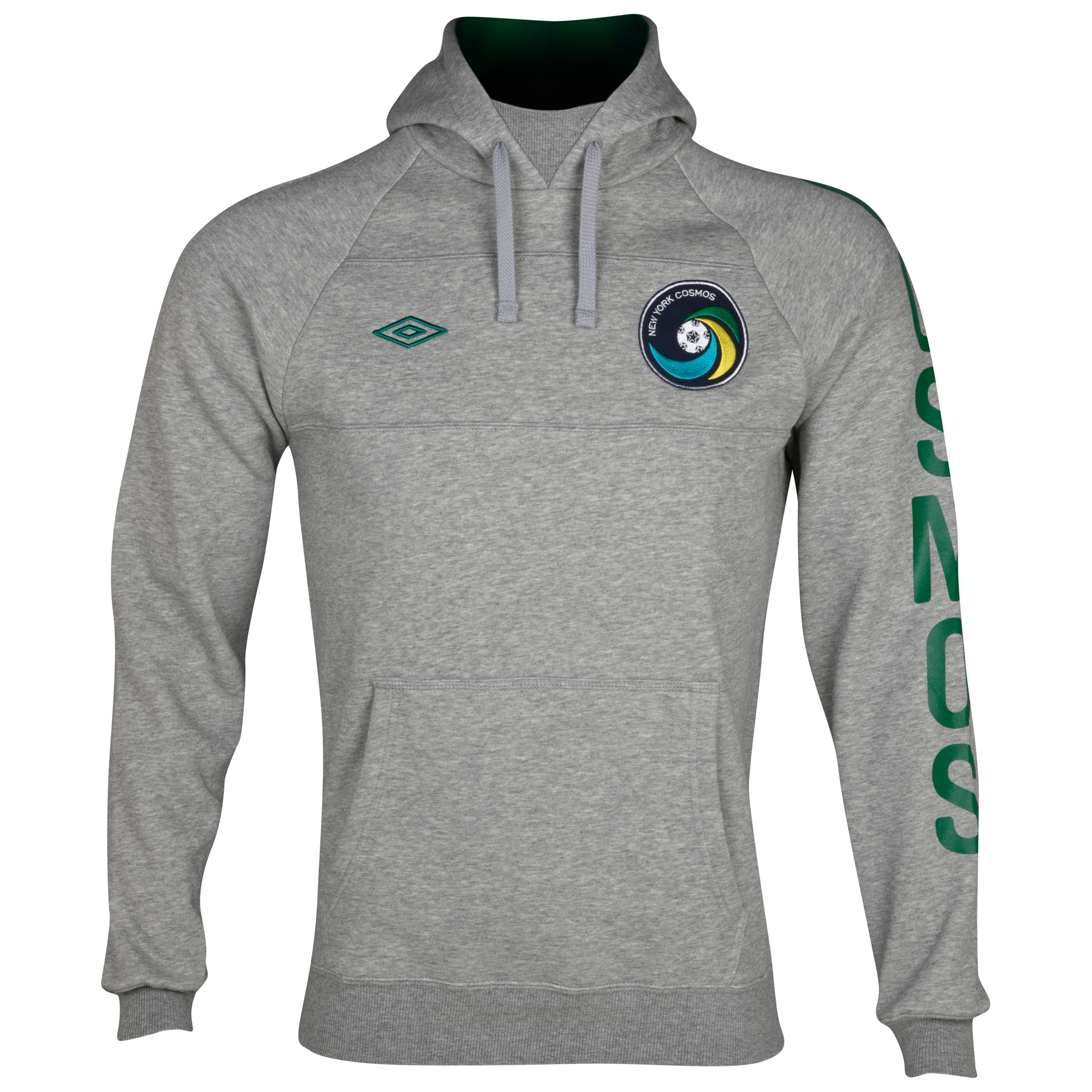 New York Cosmos Hoody - Grey Narl/Pine Green