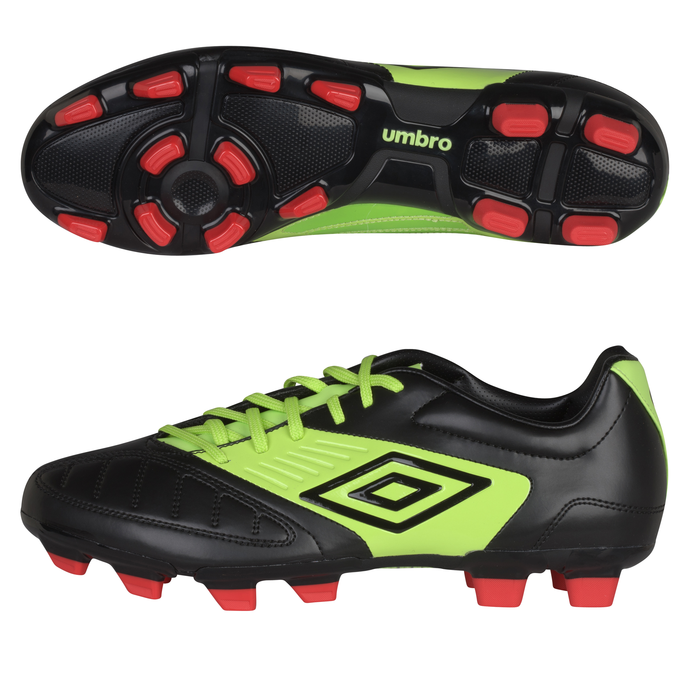 Geometra Cup FG Black/White/Sharp Green/True Red