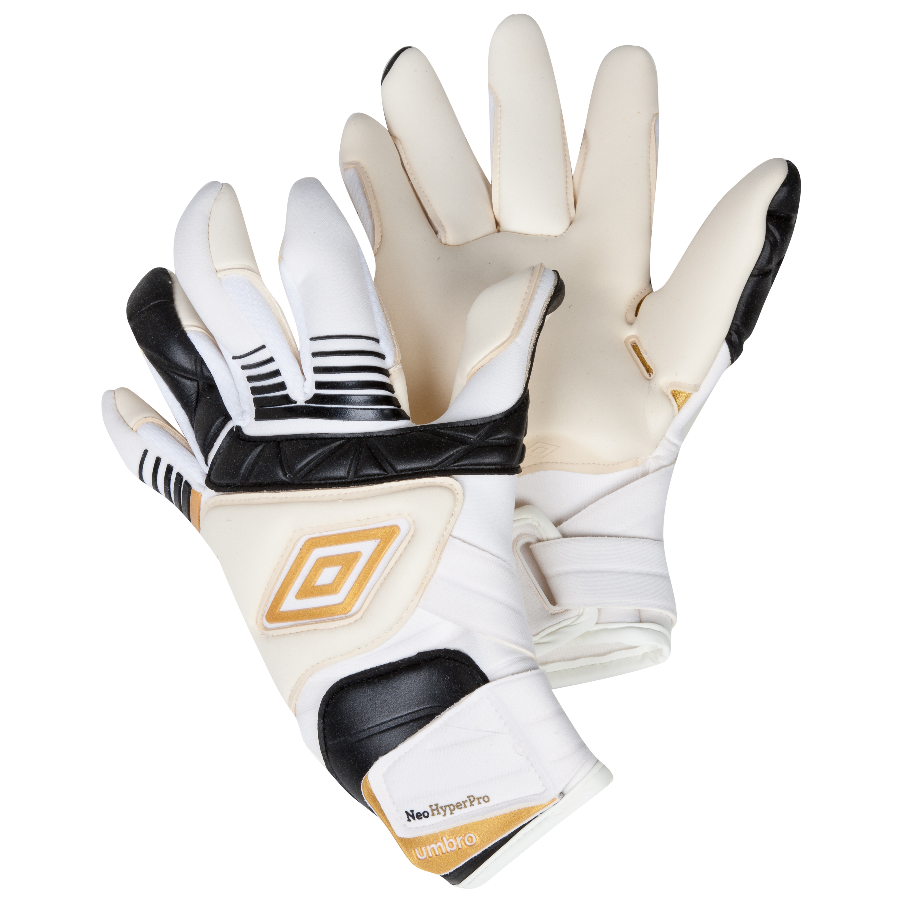 Umbro Neo Pro Goalkeeper Gloves - White/Black/Gold