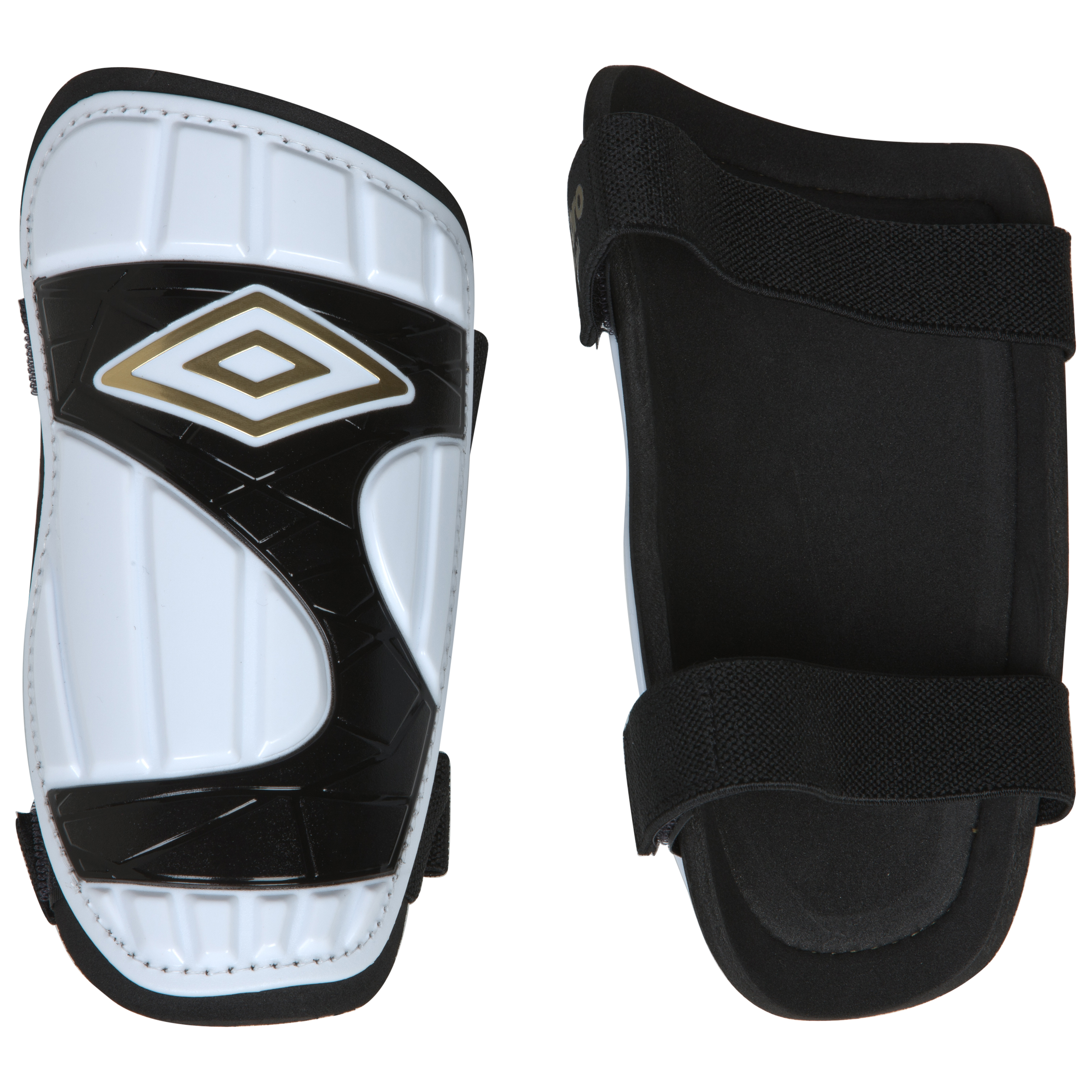 Umbro Neo Slip Shin Pads - White/Black/Gold