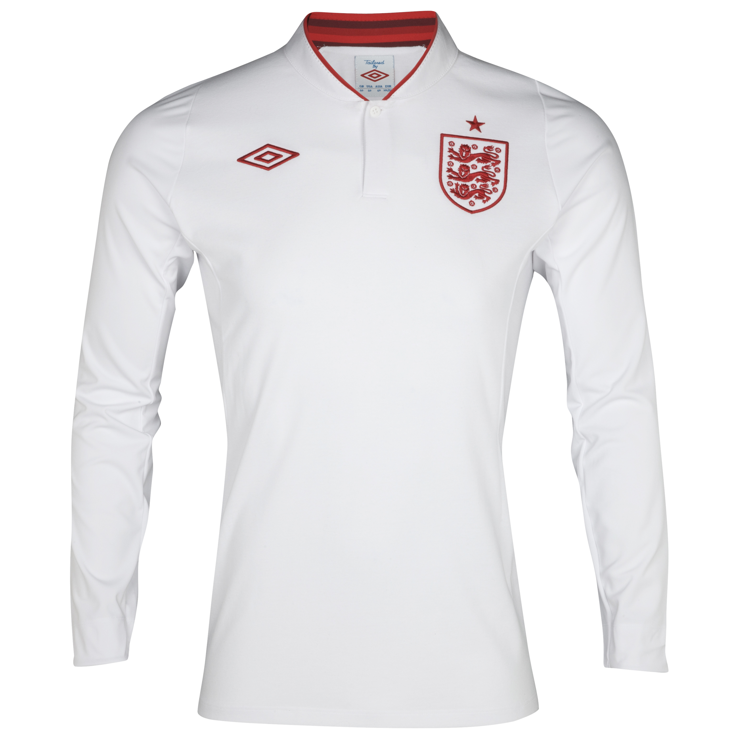 England Home Shirt 2012/13 Long Sleeve Boys