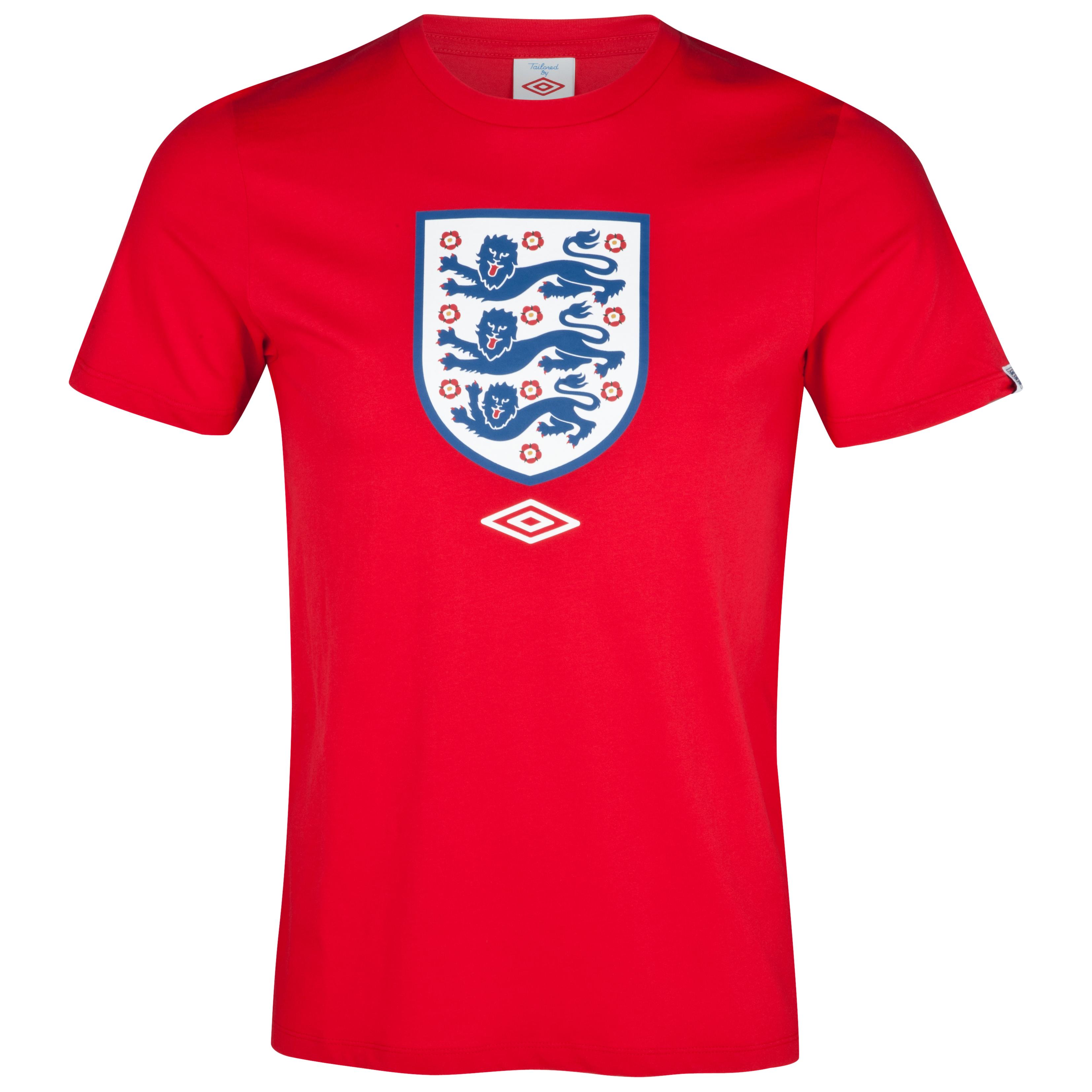 England Supporter Graphic T-Shirt - Vermillion - Boys