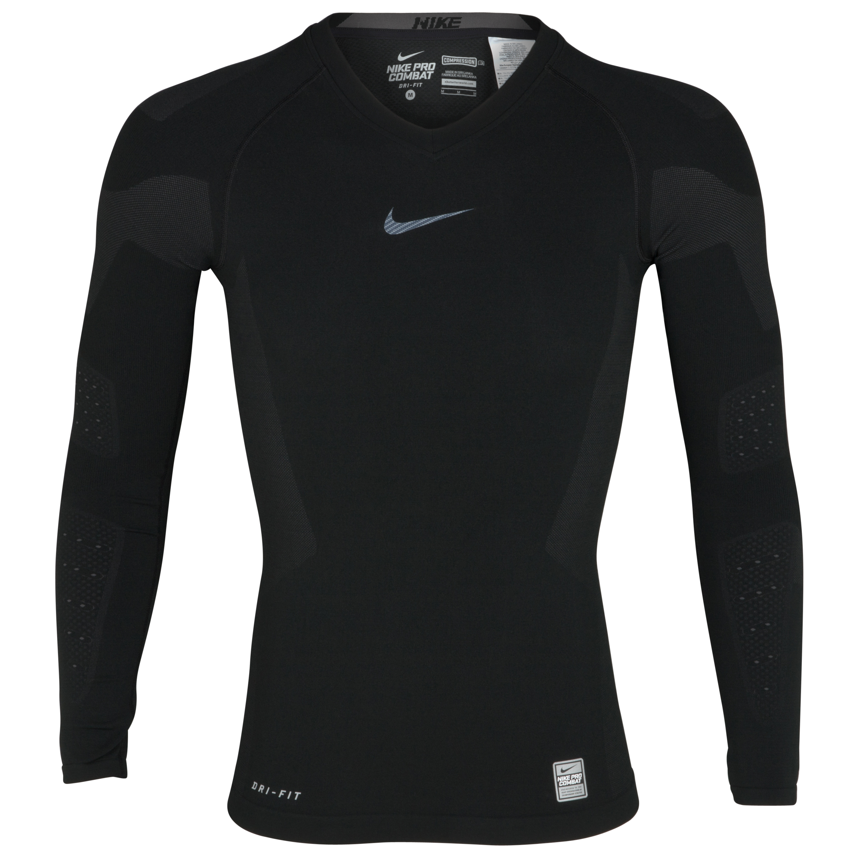 Nike Pro Combat Hypercool Vapor Top - Black - Long Sleeve