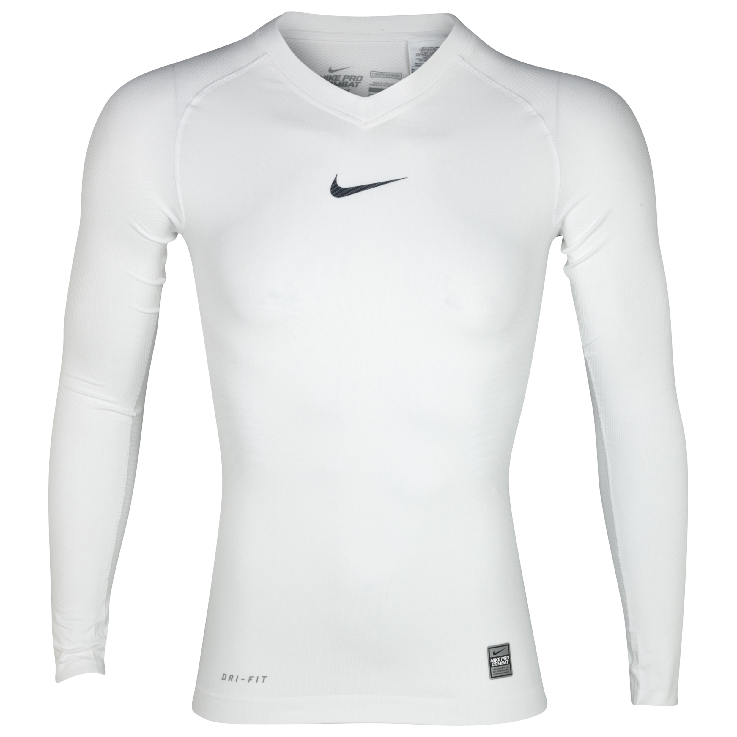 Nike Pro Combat Hypercool Vapor Top - White - Long Sleeve