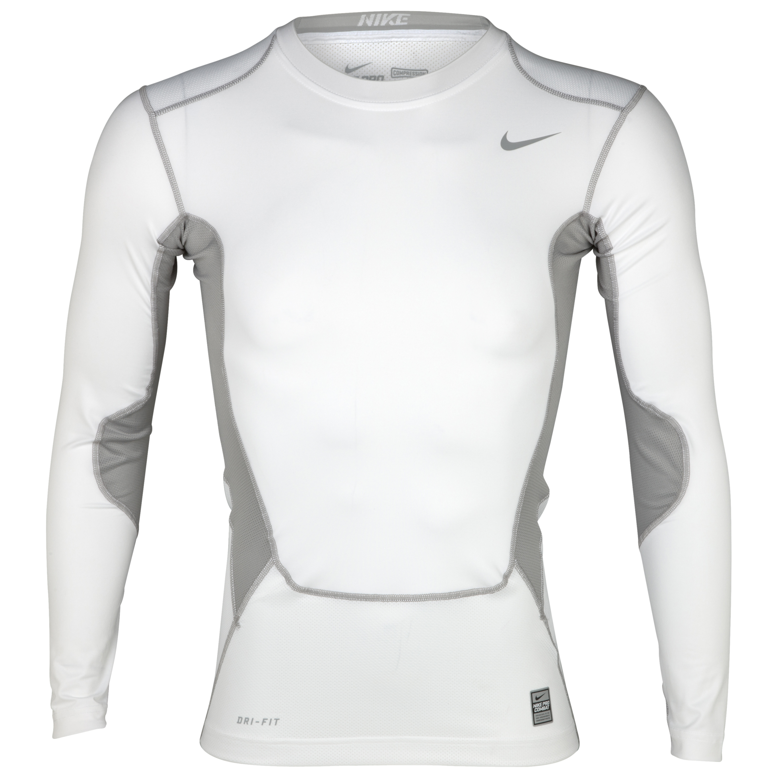 Nike Hypercool Comp Baselayer Top - Long Sleeve - White/matte Silver