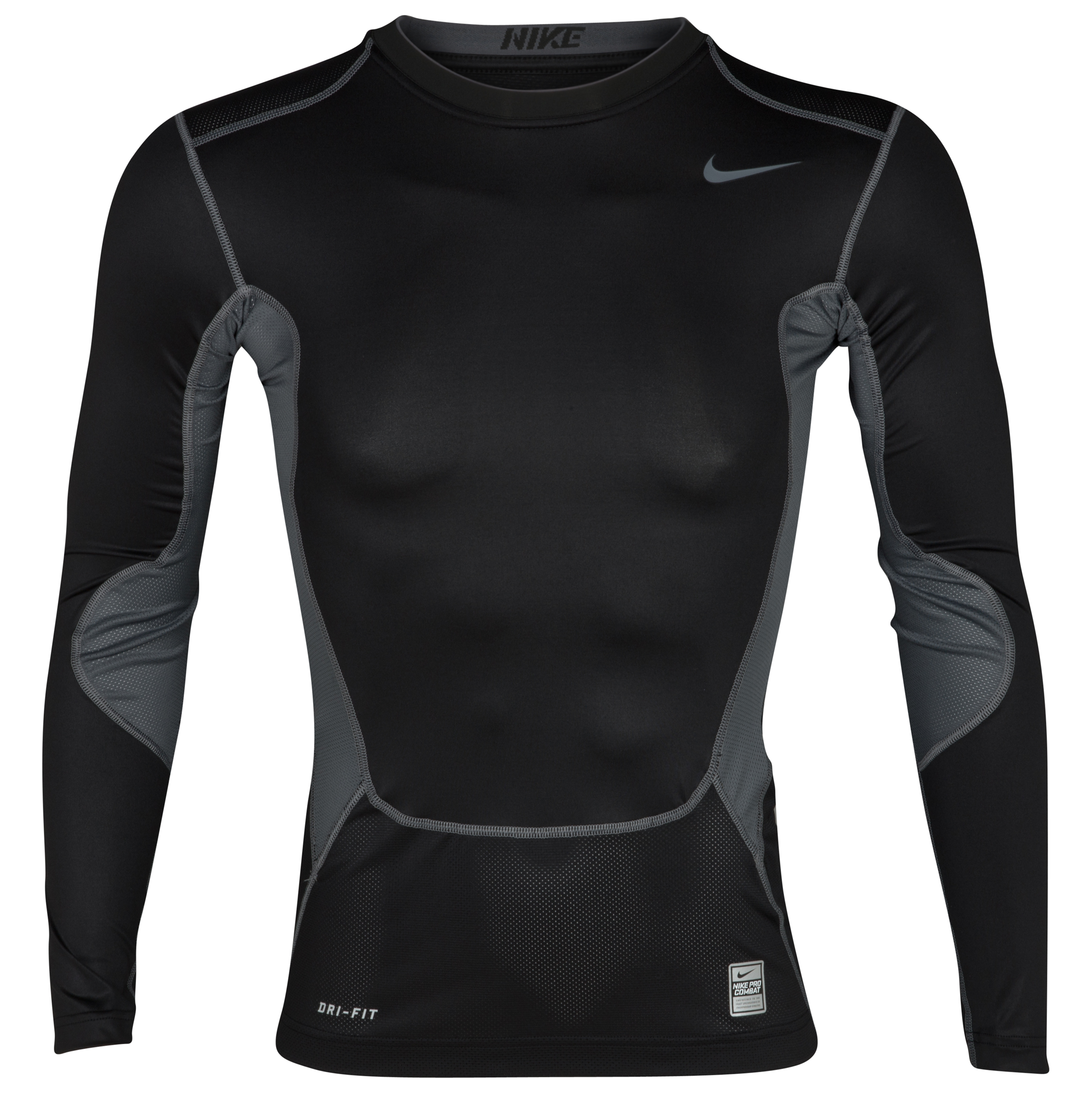 Nike Hypercool Comp Baselayer Top - Long Sleeve - Black/flint Grey