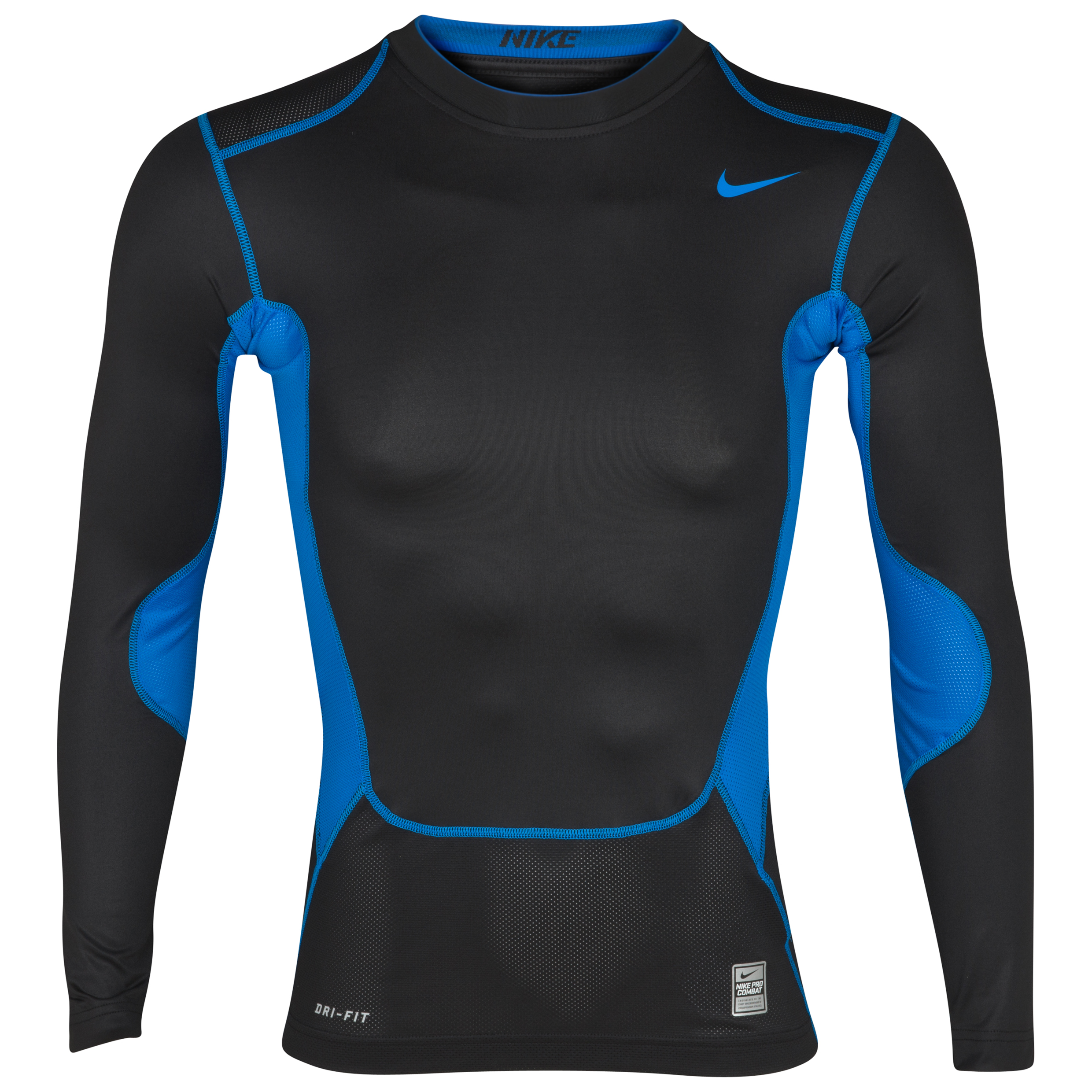Nike Hypercool Comp Baselayer Top - Long Sleeve - Black/Photo Blue