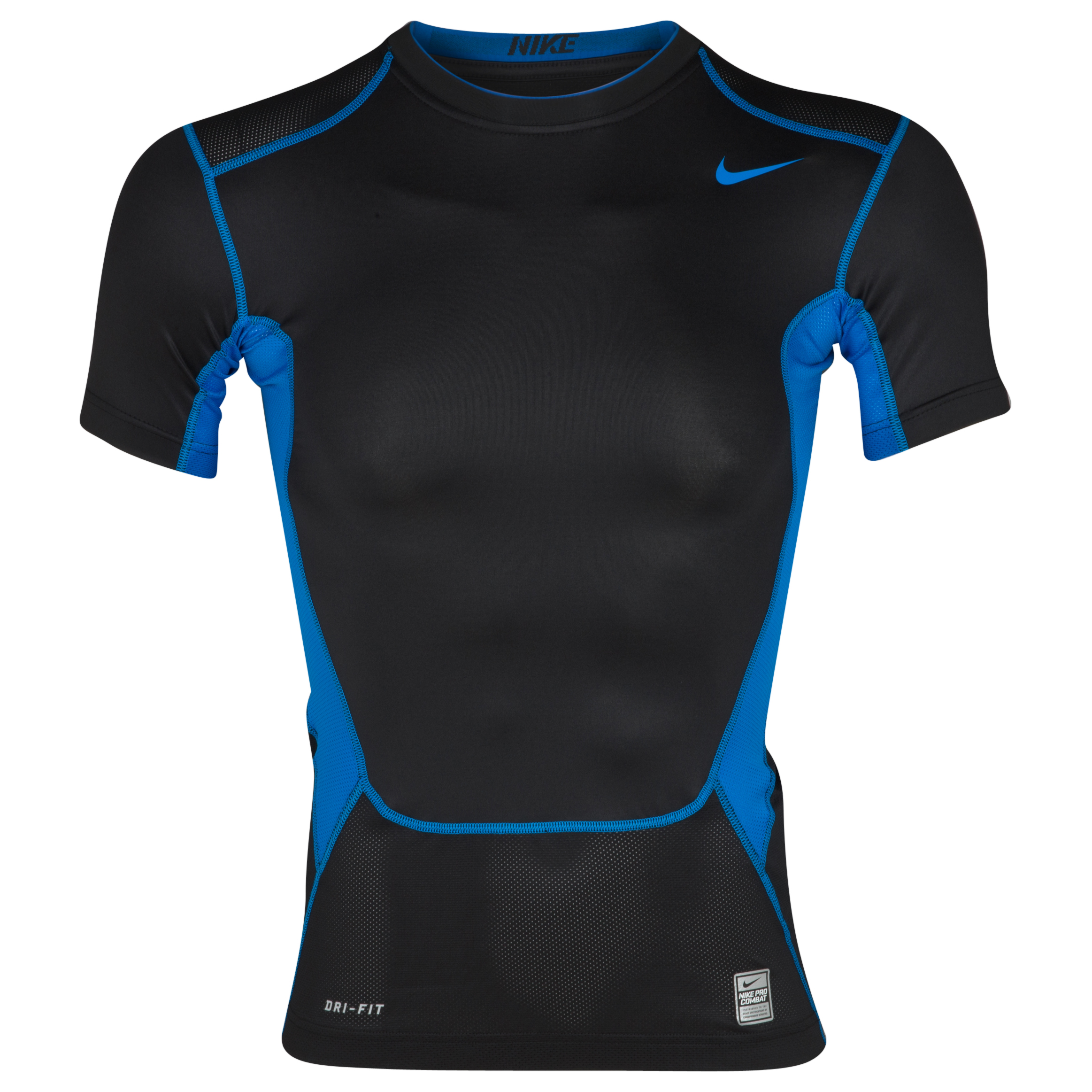 Nike Hypercool Comp Baselayer Top - Black/Photo Blue